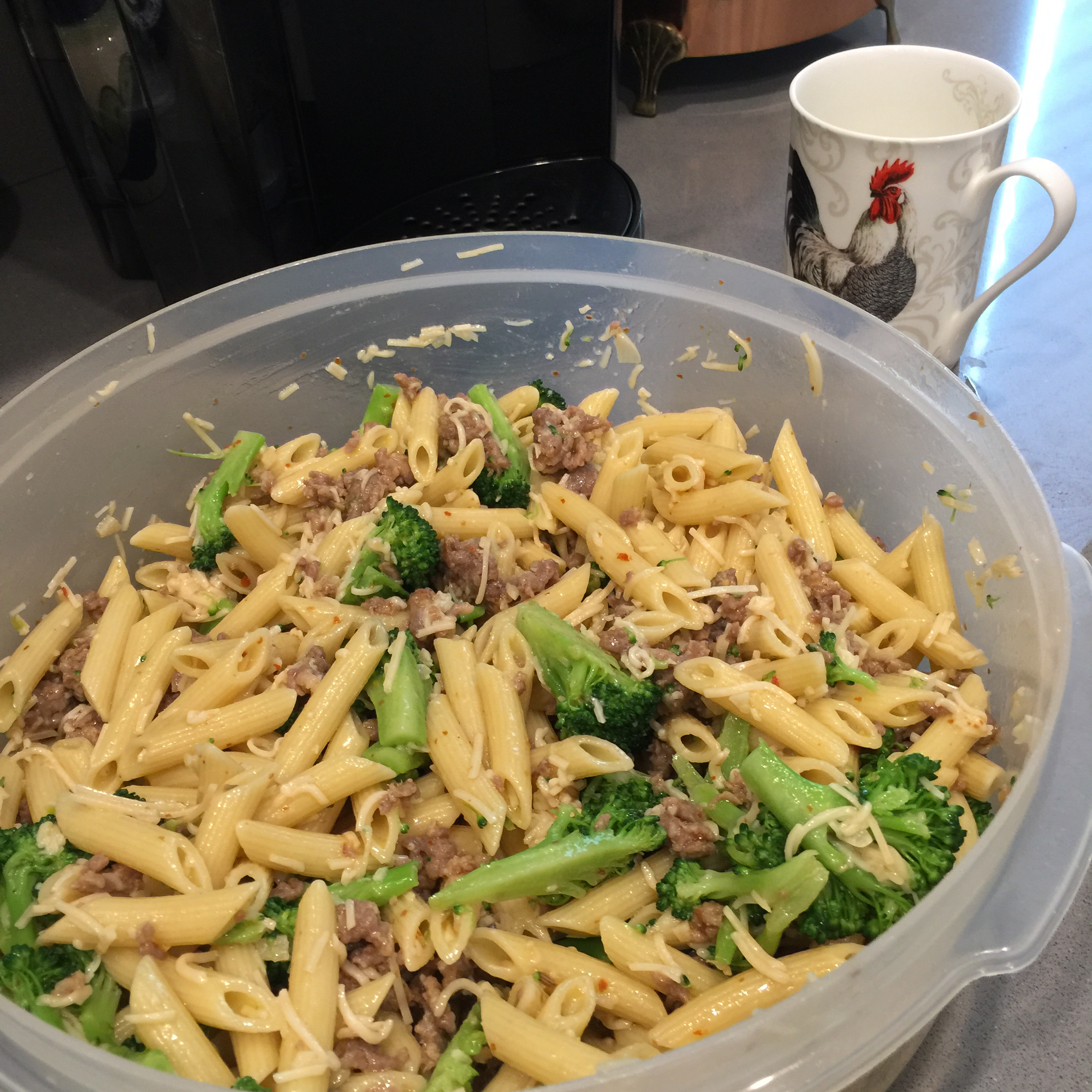 Penne with Sausage and Broccoli Rabe