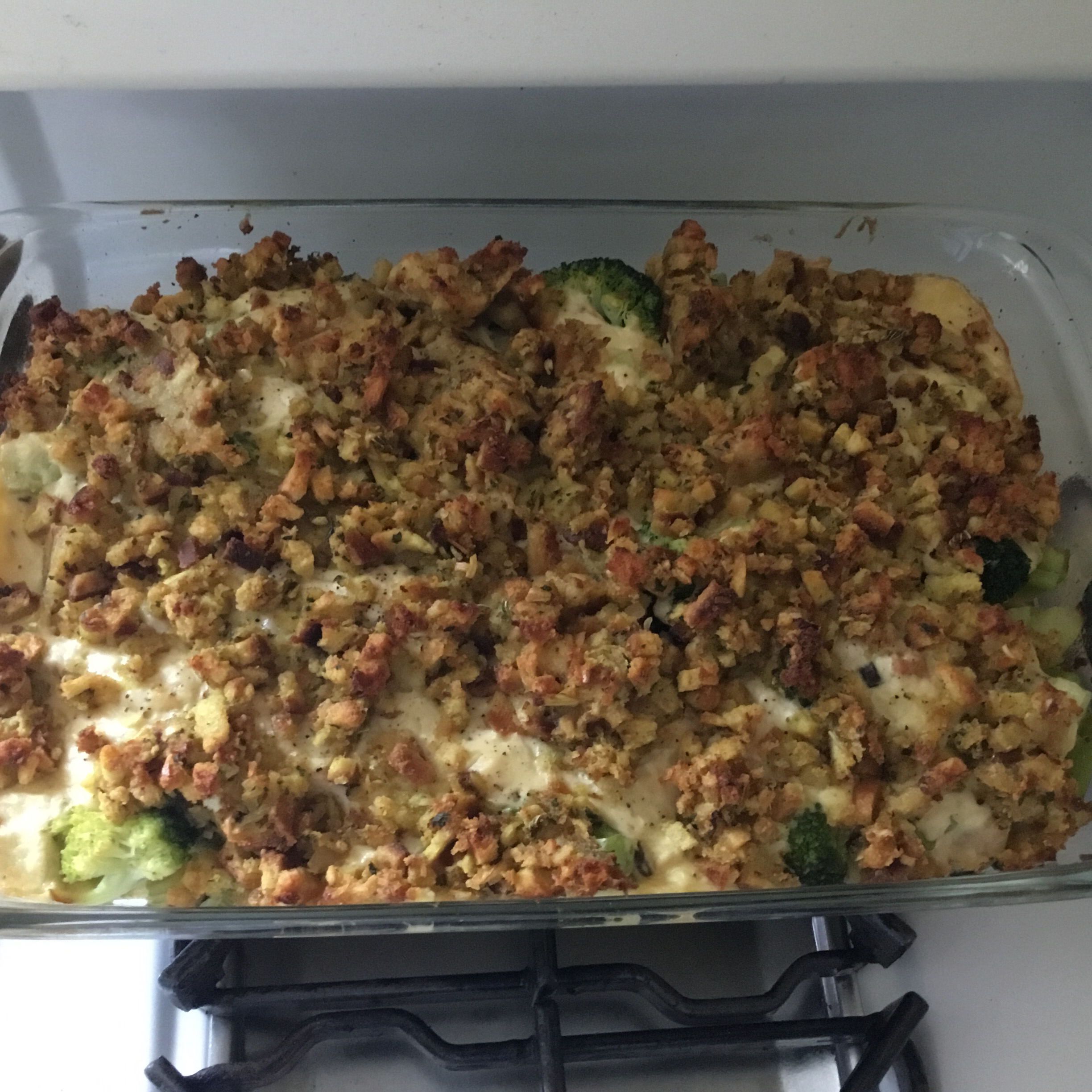 Rotisserie Chicken and Stuffing Casserole Lindsey