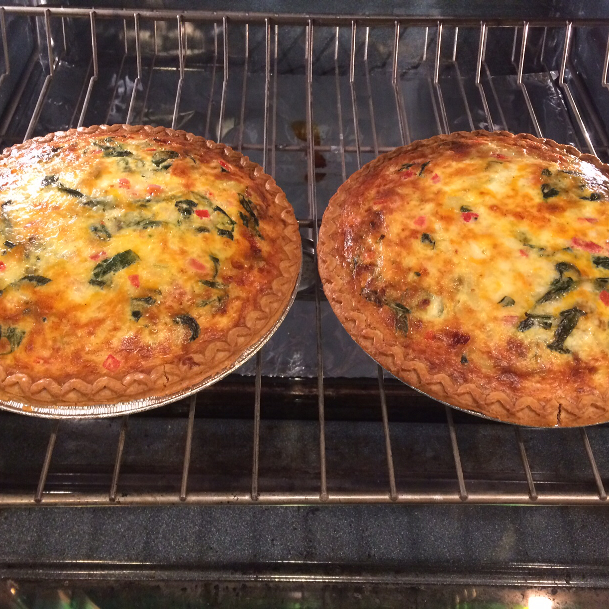 Green Chile Spinach Quiche alma ridenour