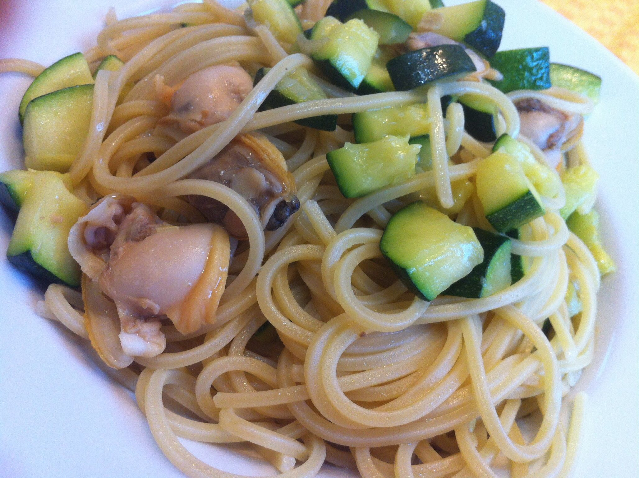 Pasta with Clams, Zucchini, and Zucchini Blossoms