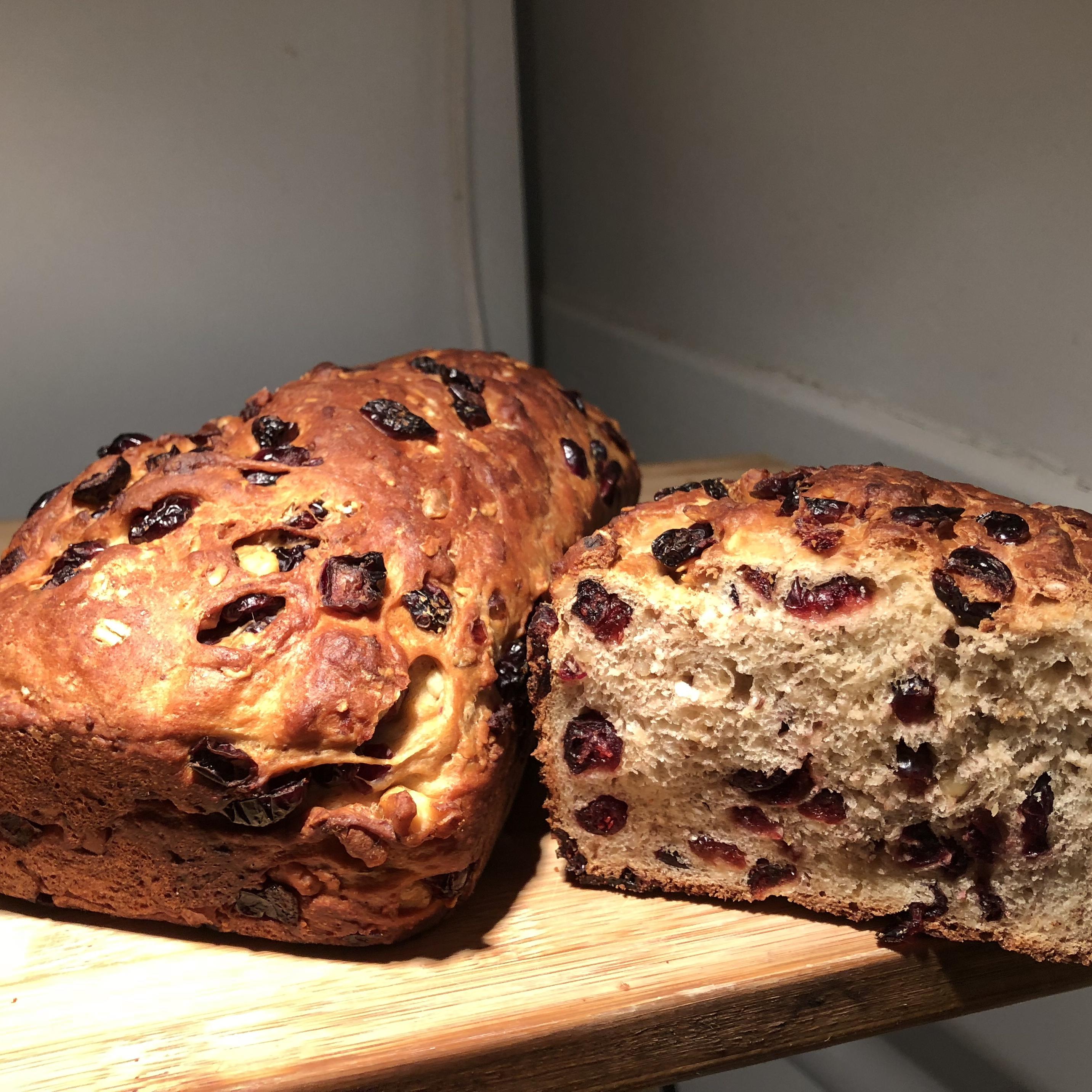 Cranberry Pignoli Nut Bread