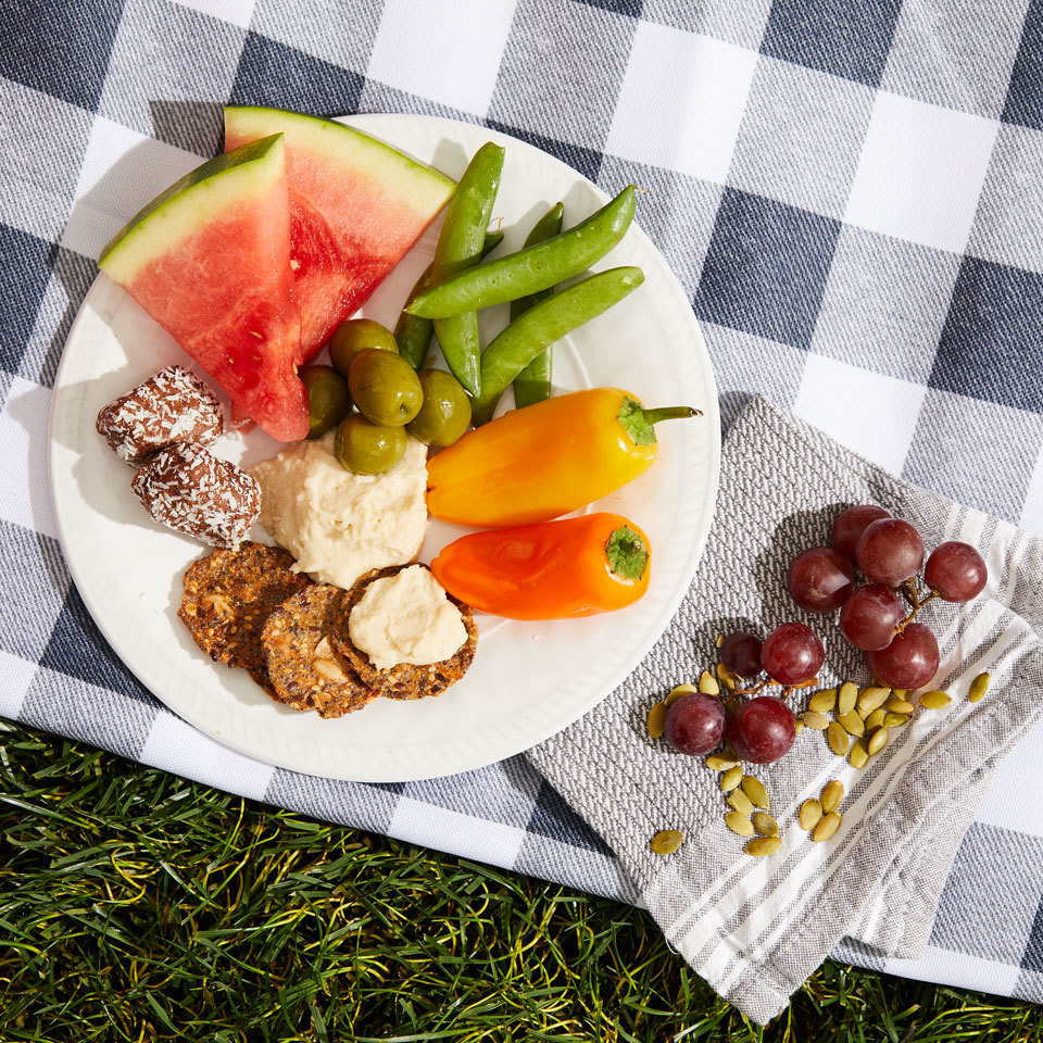 Sweet & Savory Hummus Plate Victoria Seaver, M.S., R.D.