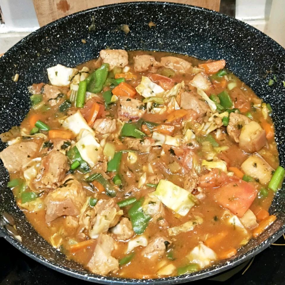 Stir-Fried Vegetables with Chicken or Pork Erick