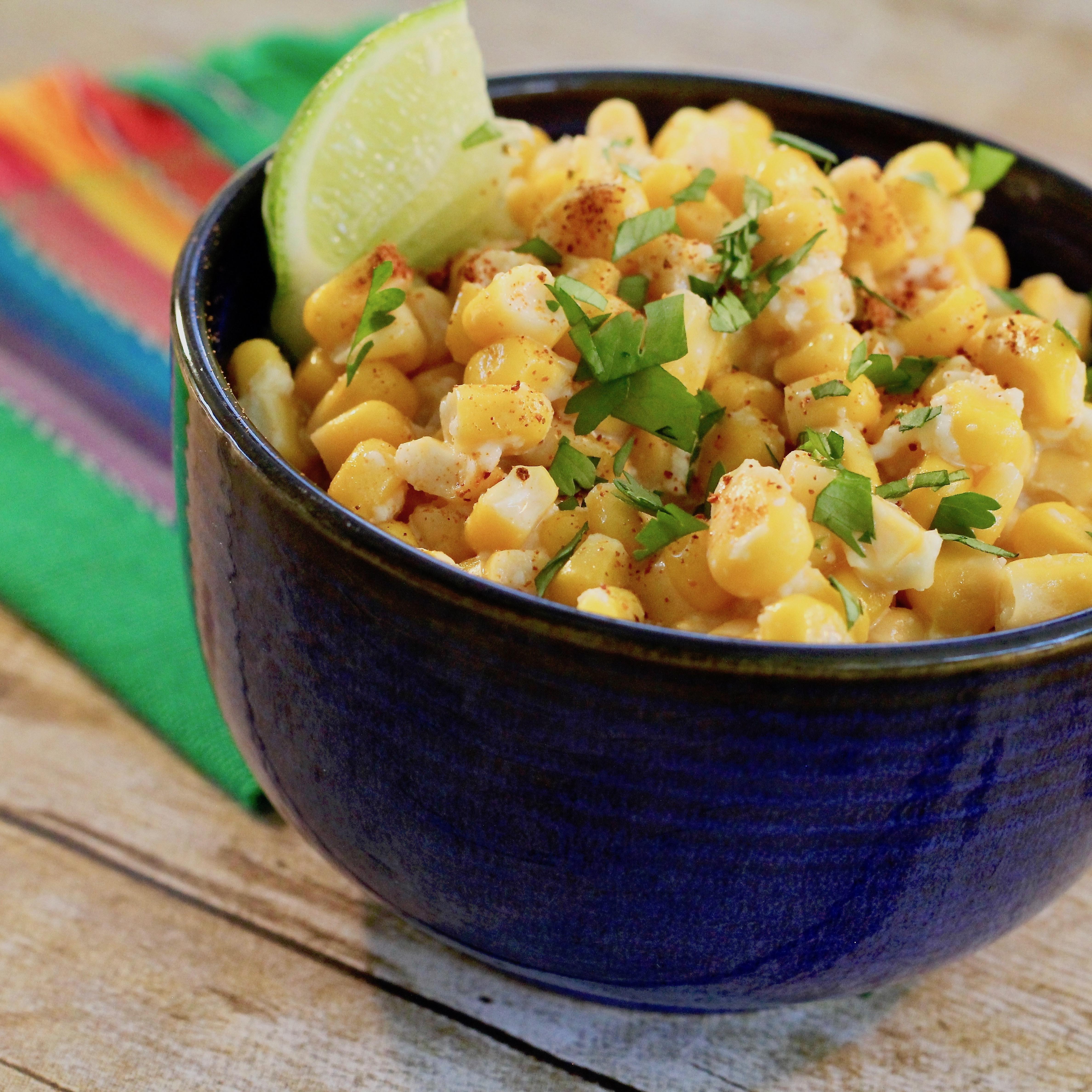 Mexican Street Vendor Style Corn Salad lutzflcat