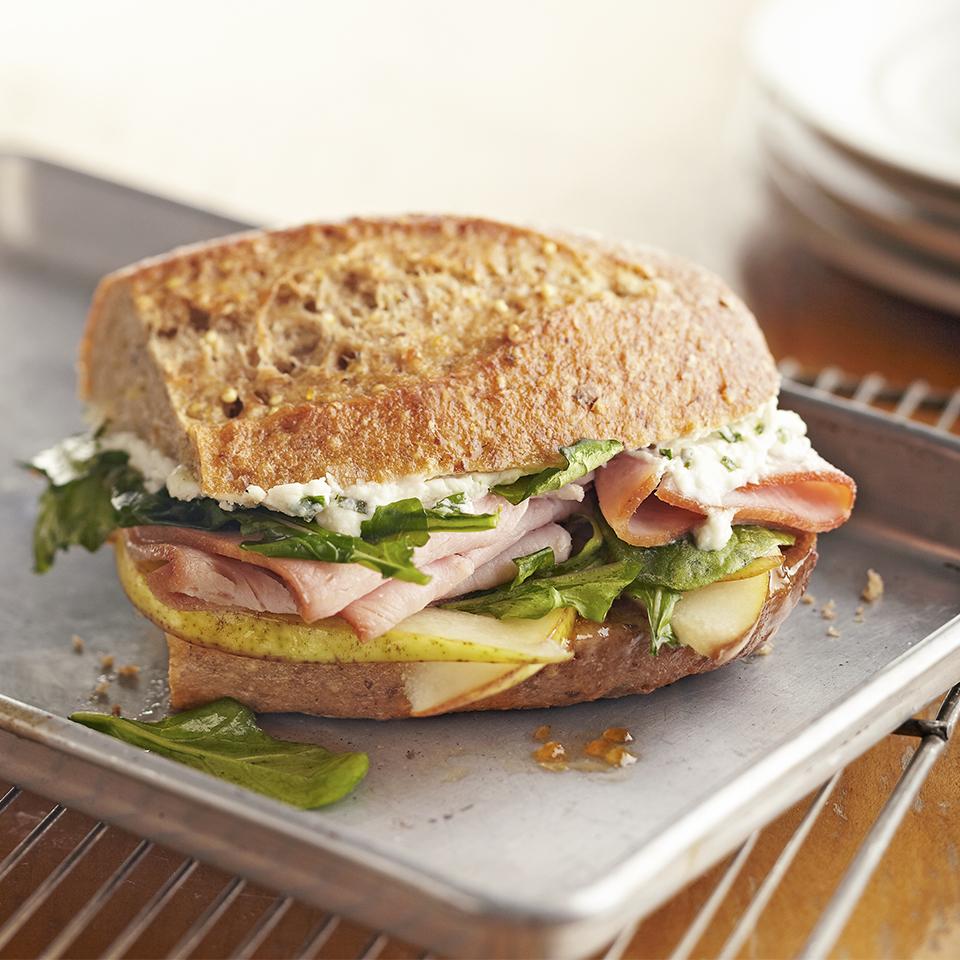 Hot Ham and Pear Melts Diabetic Living Magazine