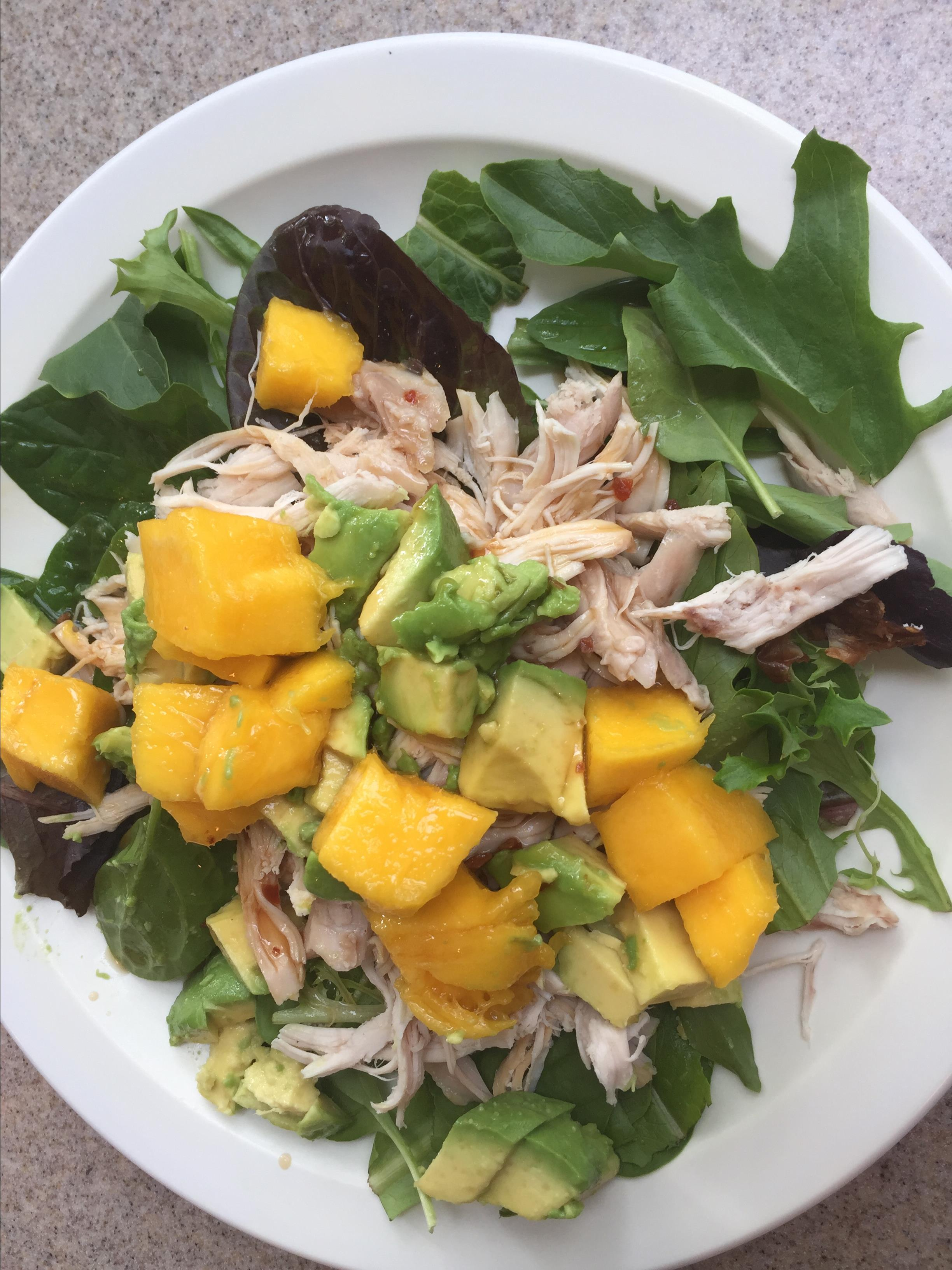 Chicken, Avocado and Mango Salad