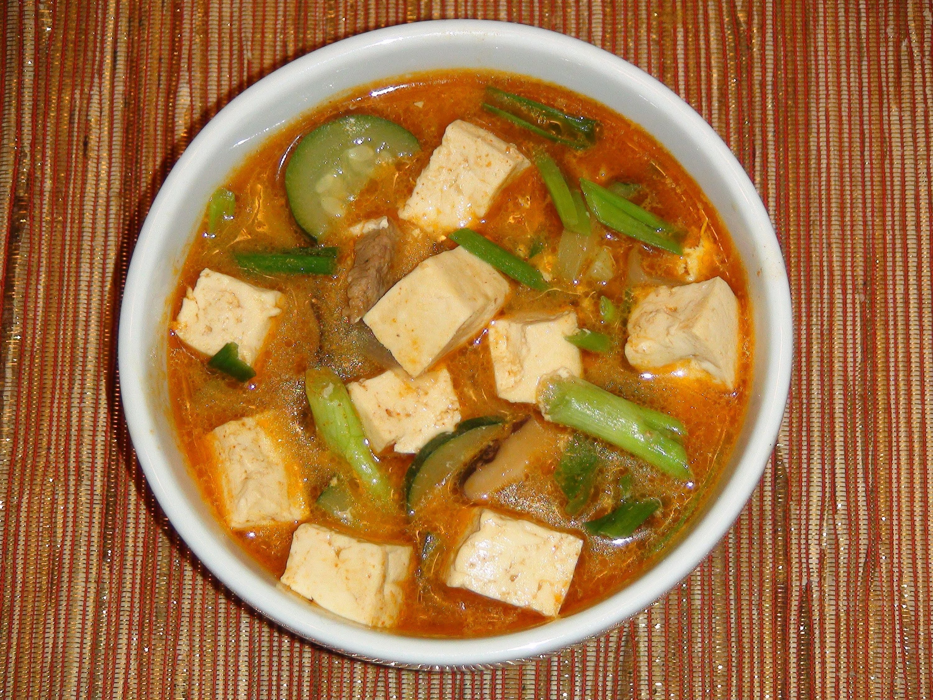 Korean Tofu and Vegetable Soup