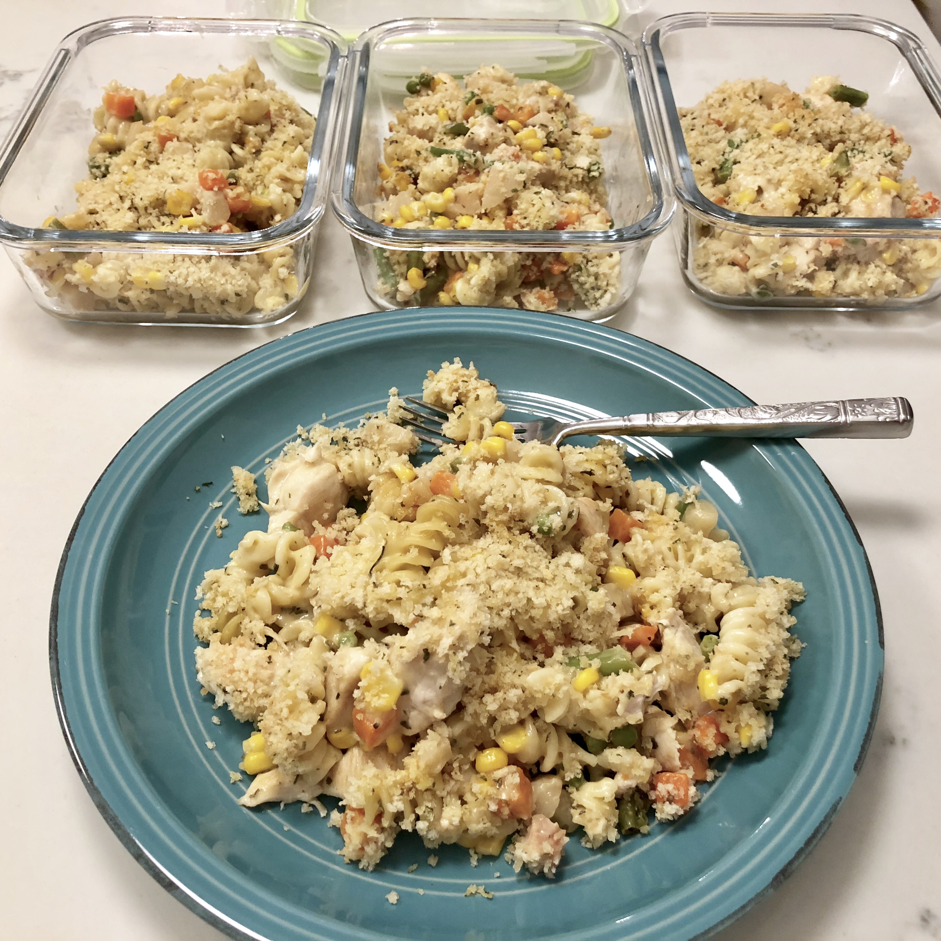 Chicken and Pasta Casserole with Mixed Vegetables Scruffy Paws