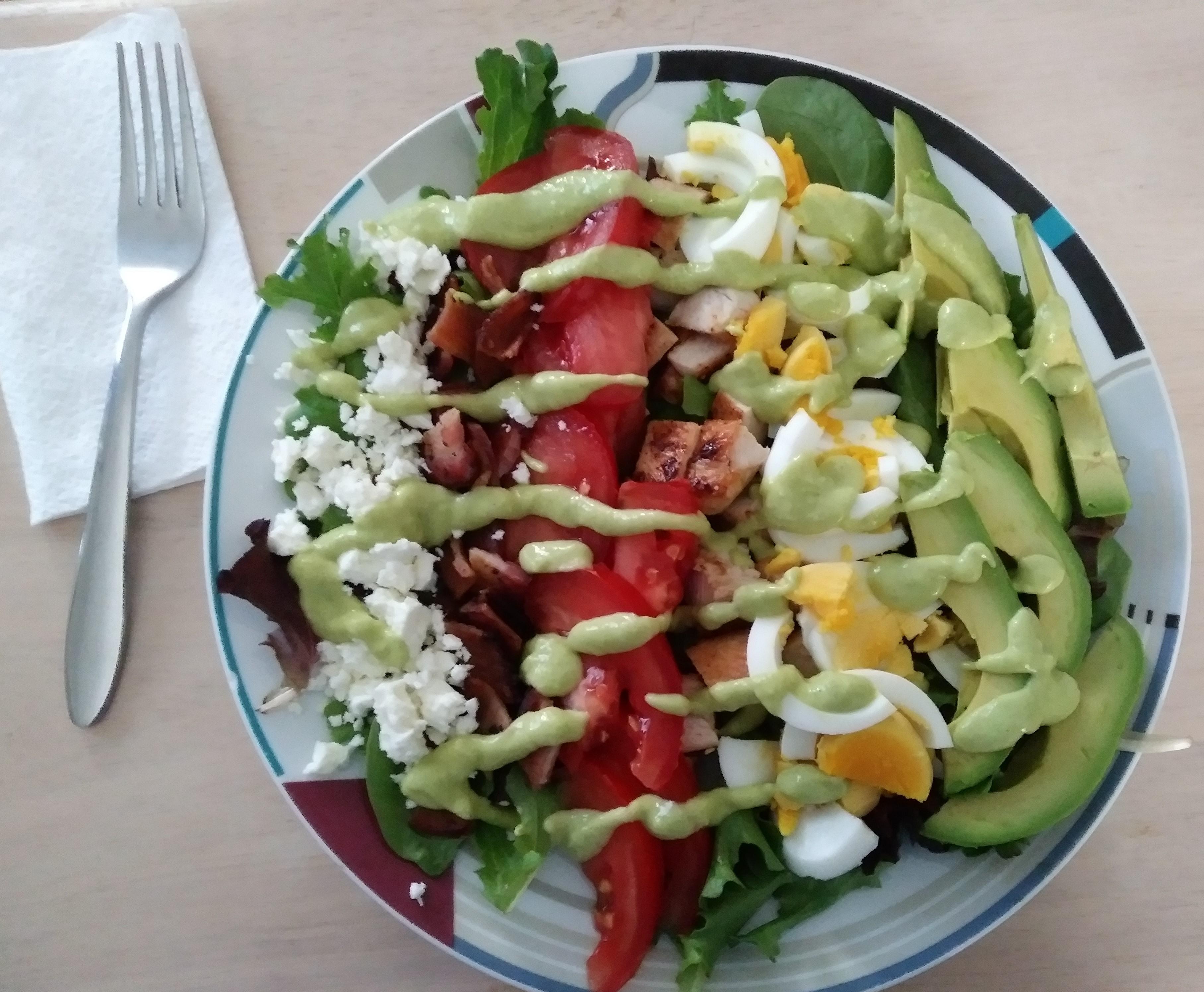 Mini Cobb Salad with Avocado Dressing Recipe - Allrecipes com