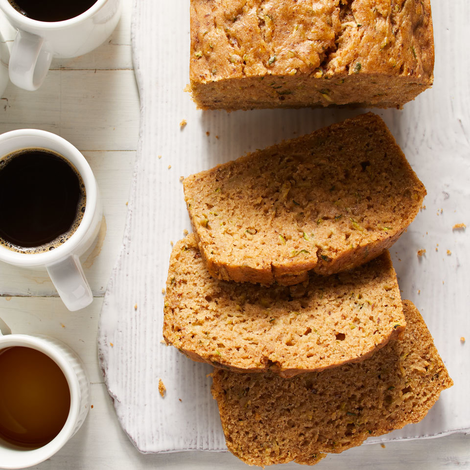 This whole-wheat zucchini bread uses juicy shredded zucchini in place of butter and milk for a tender loaf. Vegans and nonvegans alike will love how moist this quick bread is. You can add toasted nuts or coconut flakes, if you like. Vegan dark chocolate chips would be an ultra-decadent addition.
