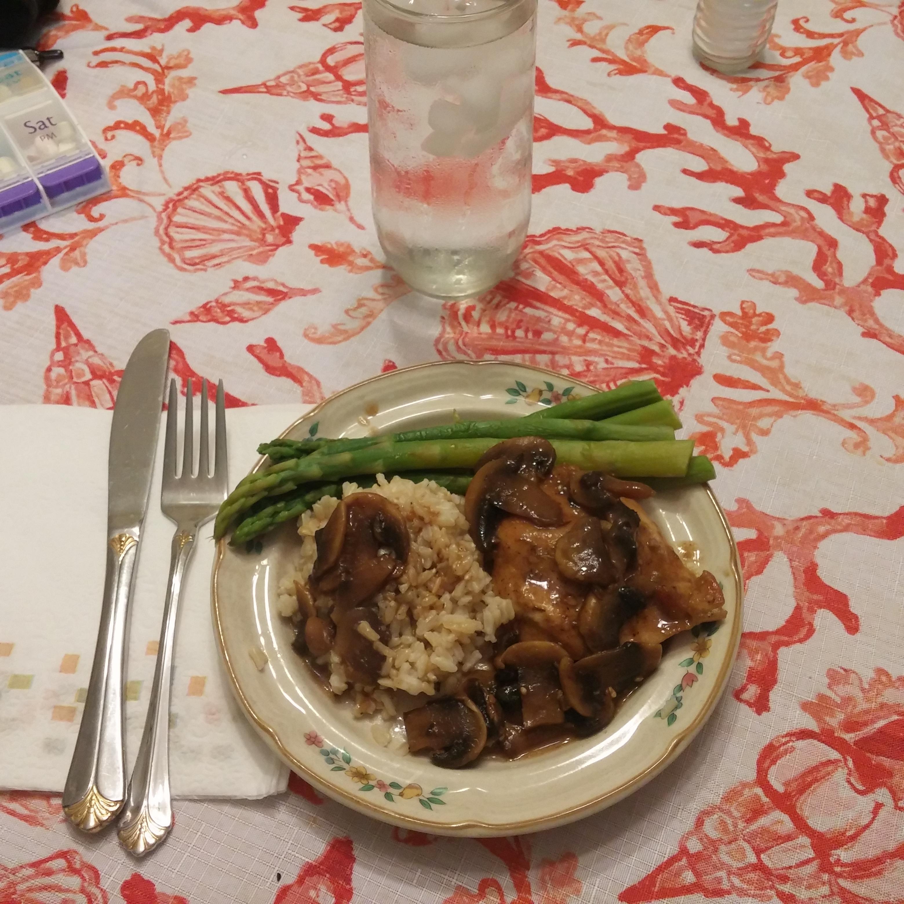 Chicken Marsala Over White Rice Michele Mackey