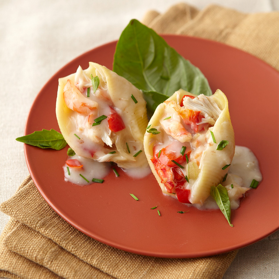 Shrimp-Stuffed Pasta Shells Diabetic Living Magazine