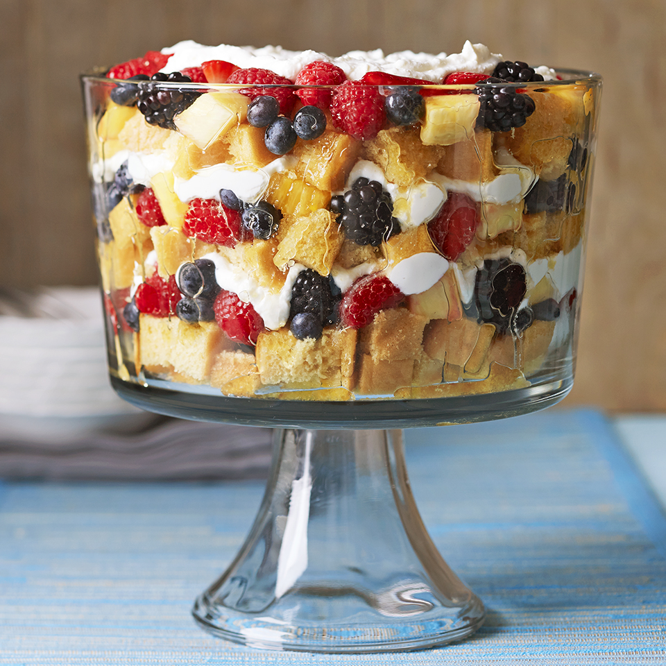 Vanilla Trifle with Champagne-Soaked Fruit Diabetic Living Magazine