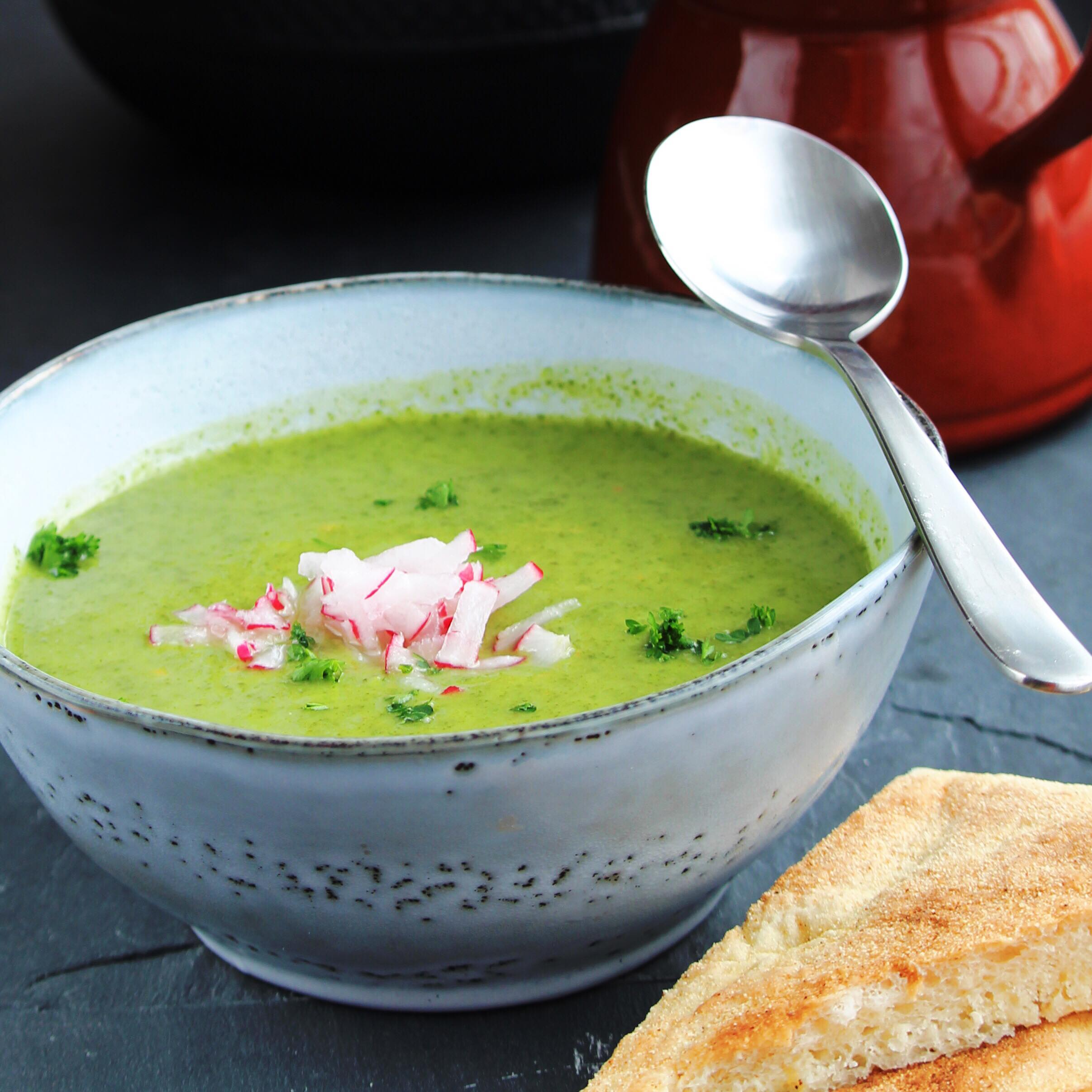 Radish Top Soup LAURA NASON