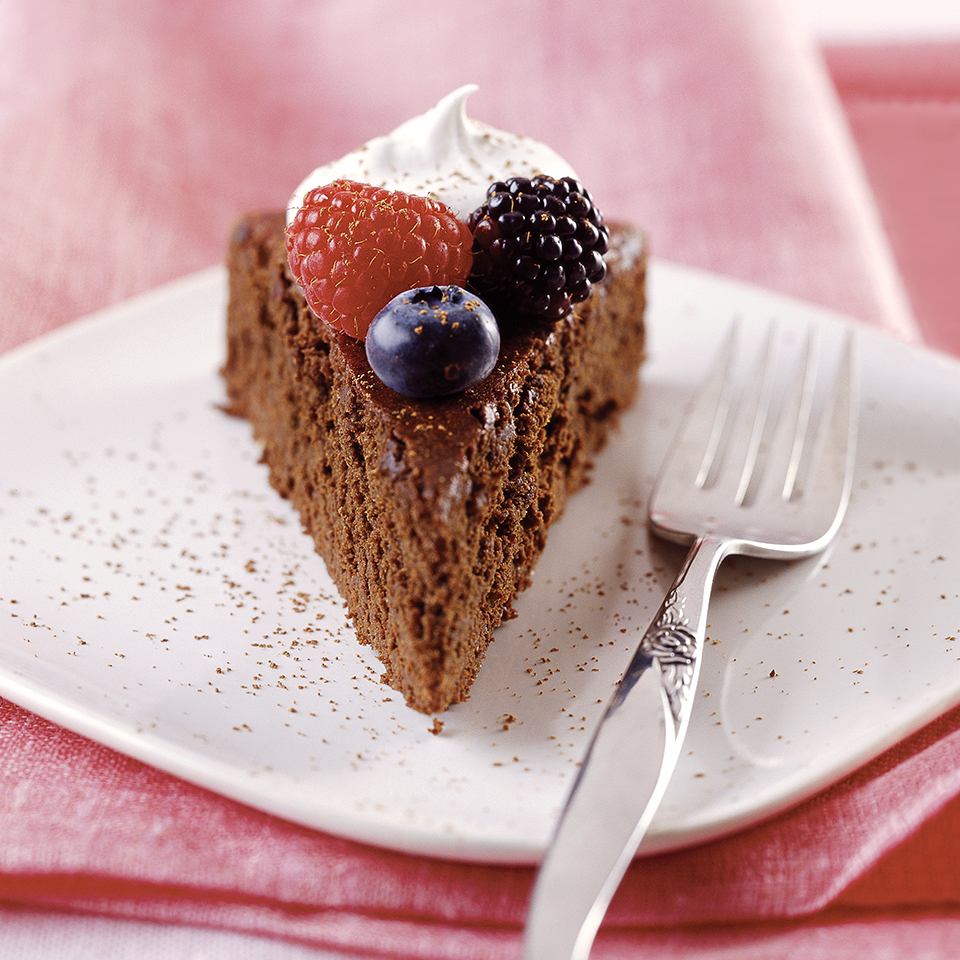 Mocha Cake with Berries Diabetic Living Magazine