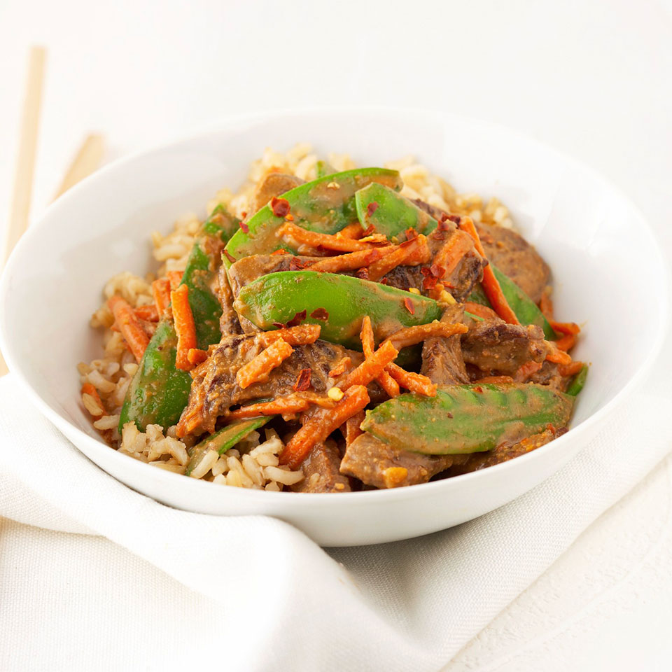 Beef and Vegetables in Peanut Sauce Diabetic Living Magazine