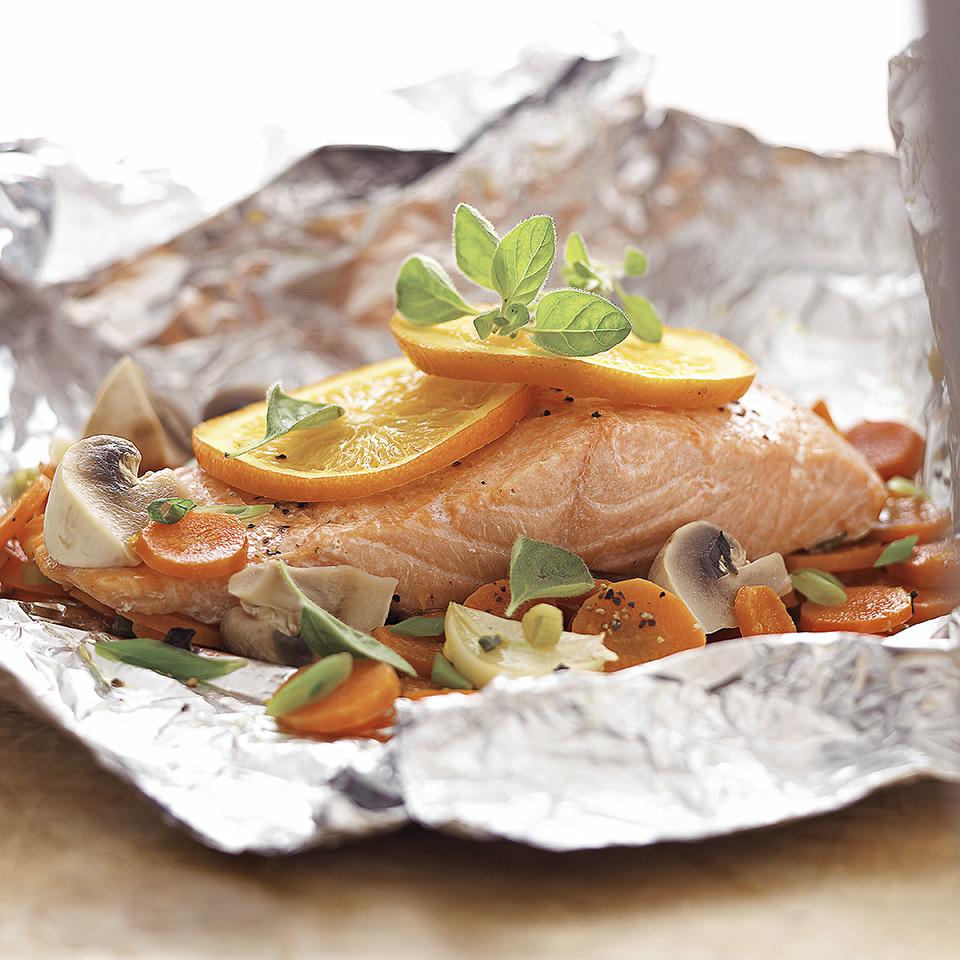Salmon-Vegetable Bake Diabetic Living Magazine