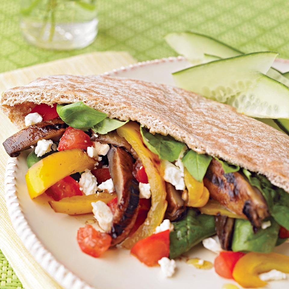 Grilled Vegetable Pitas Diabetic Living Magazine