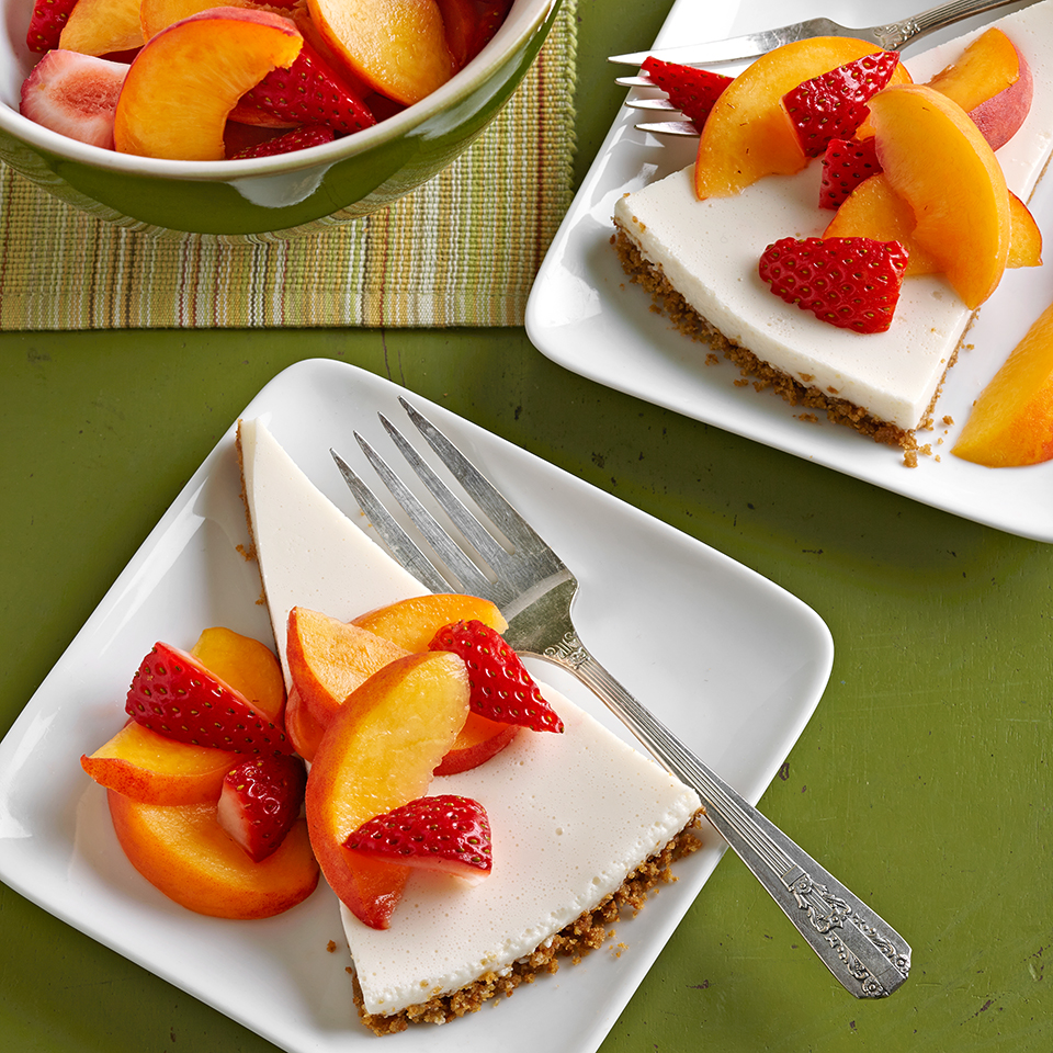 Fresh Strawberry-Peach Cream Pie Diabetic Living Magazine