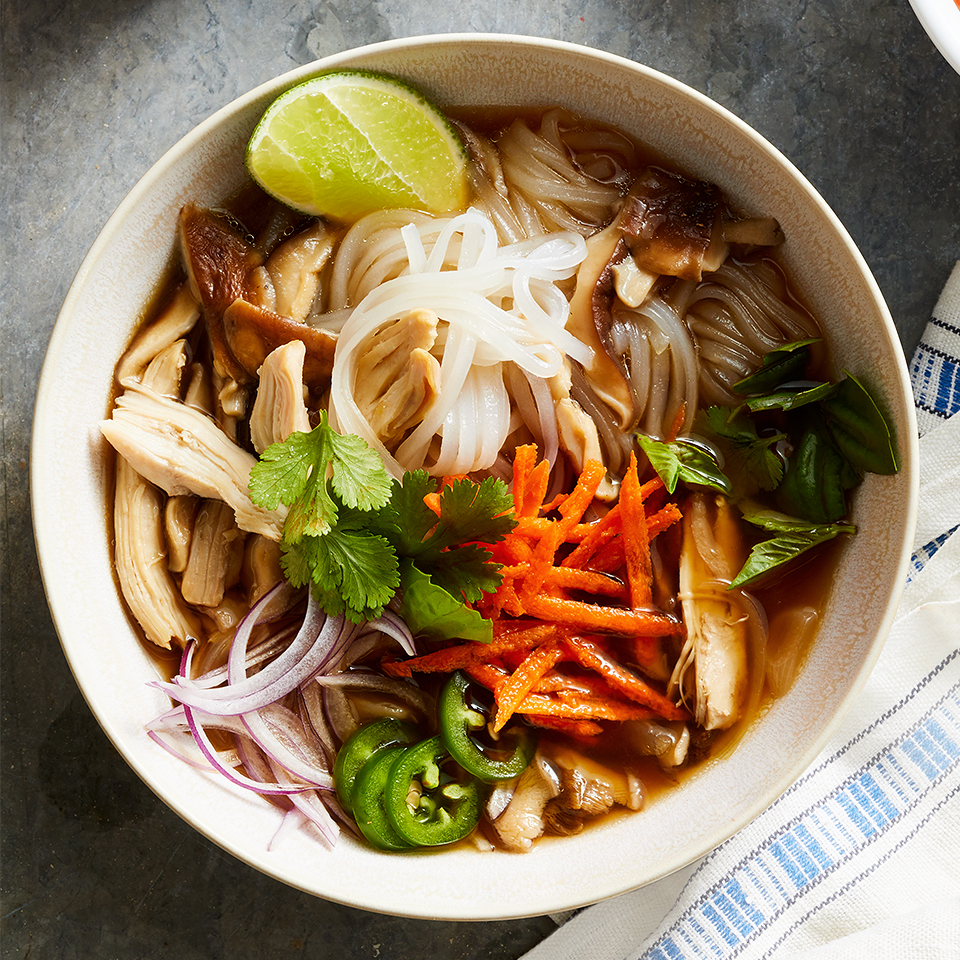 A classic Vietnamese dish, this Chicken Pho recipe is full of fragrant aromas as well as savory and spicy flavors.