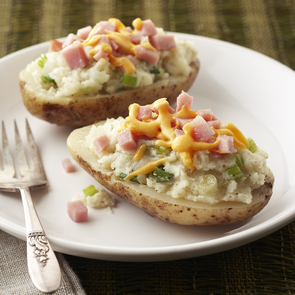 Double-Cheese Potatoes with Ham Diabetic Living Magazine