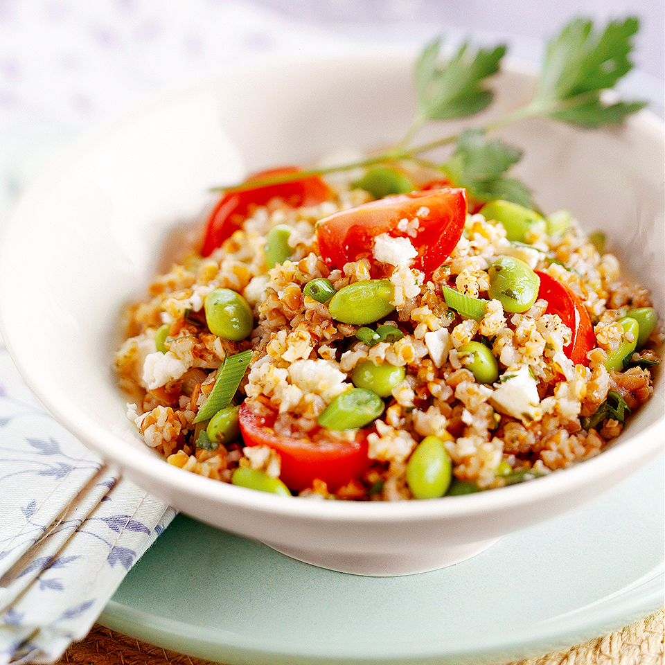 Tabbouleh With Edamame and Feta