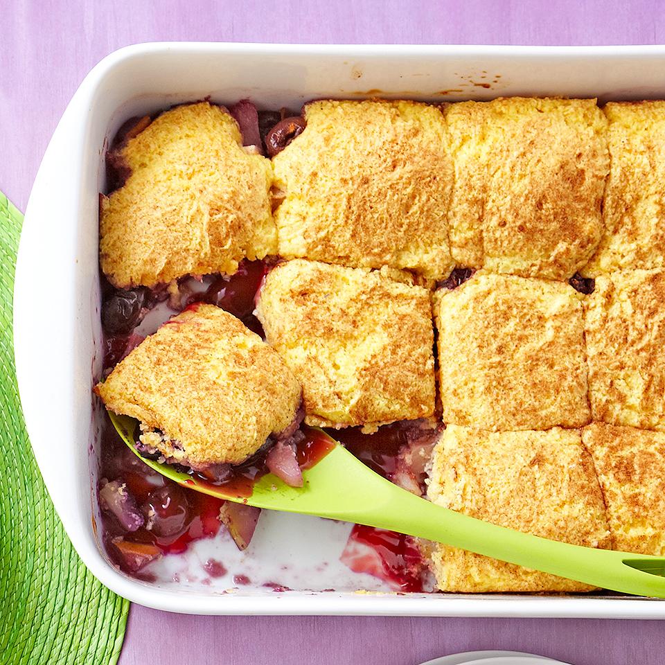Pineapple-Cherry Cake Cobbler Diabetic Living Magazine