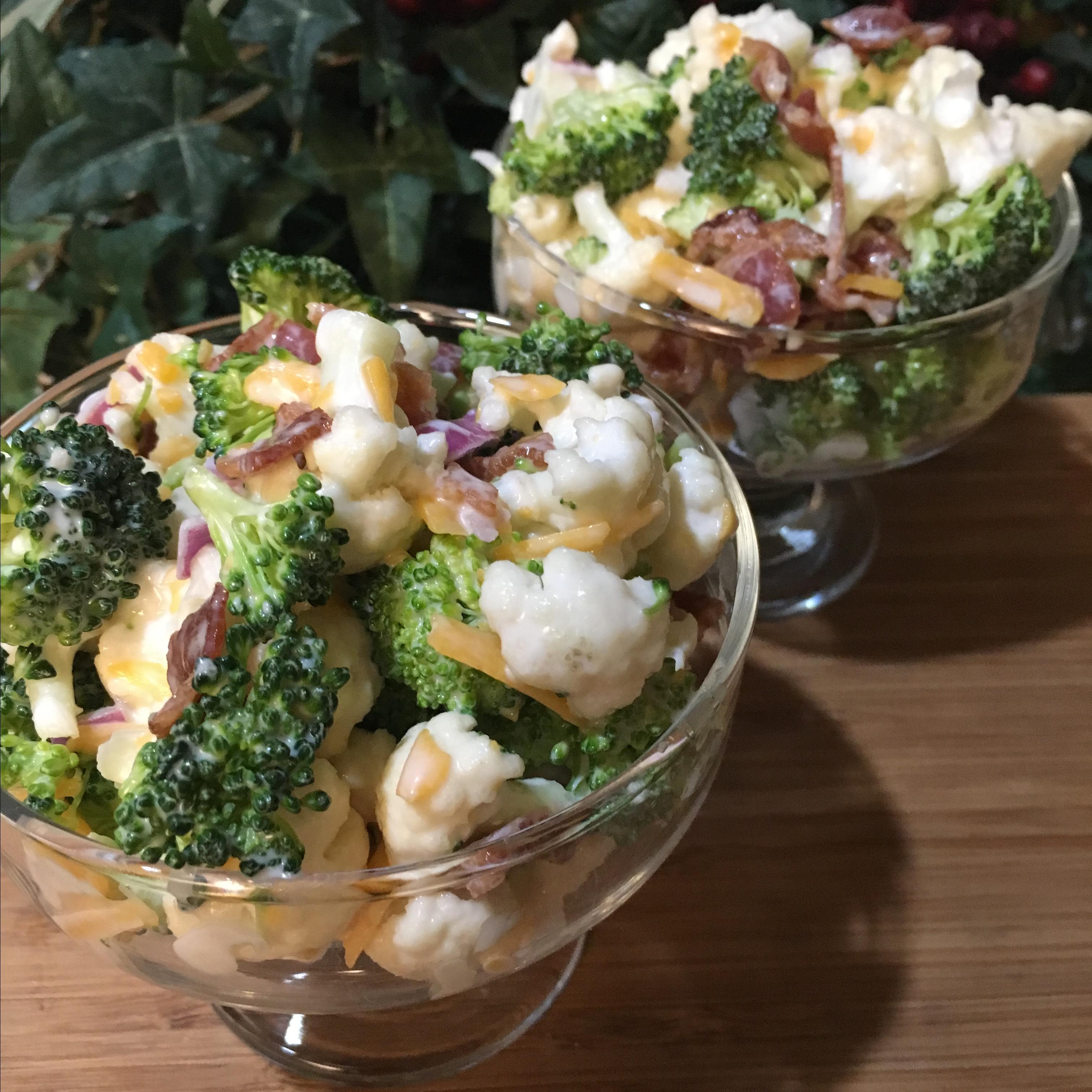 Bop's Broccoli Cauliflower Salad Paula