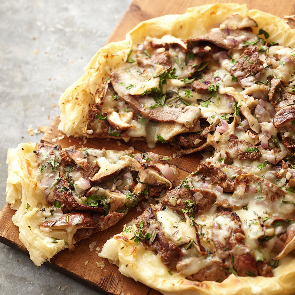Steak and Mushroom Phyllo Pizza Diabetic Living Magazine