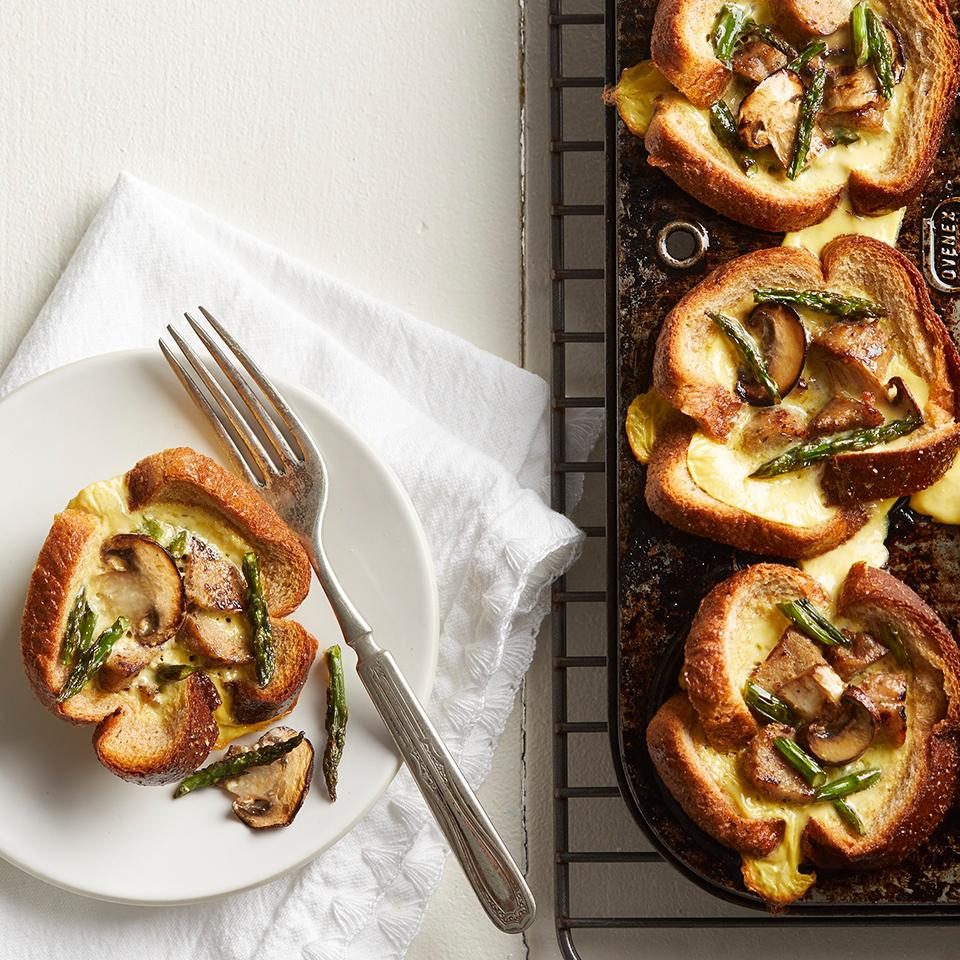 Asparagus-Mushroom Toast Cups Diabetic Living Magazine