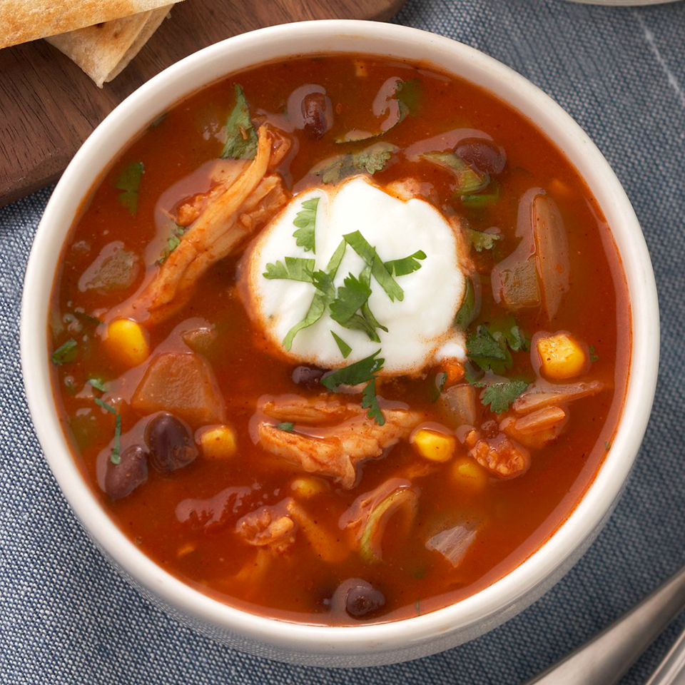 The flavorful chili has plenty of vegetables and lean turkey breast, and uses canned black beans so it's ready in less than an hour. Serve topped with a dollop of yogurt or sour cream for a rich taste.