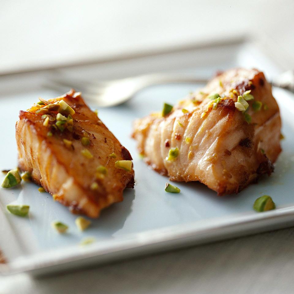 Pistachio Salmon Nuggets Diabetic Living Magazine