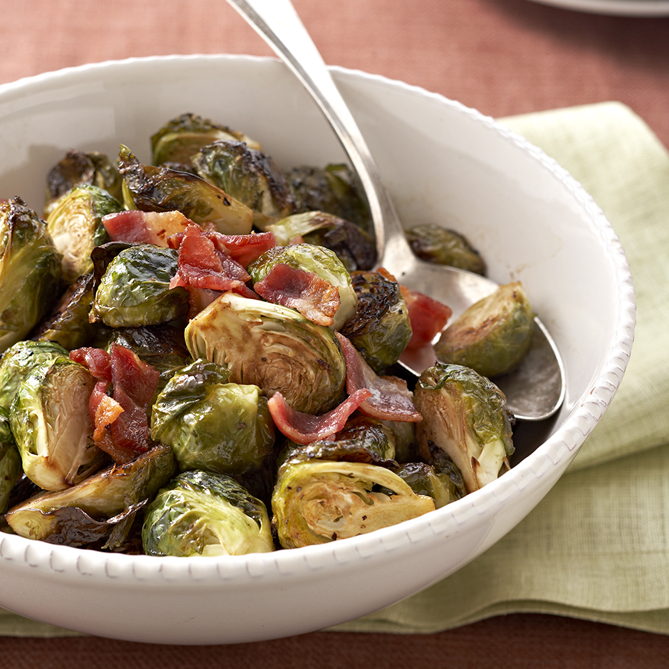 This easy Brussels sprouts dish is flavored with intense balsamic and irresistible bacon. Simple and quick, you'll want to make this often!