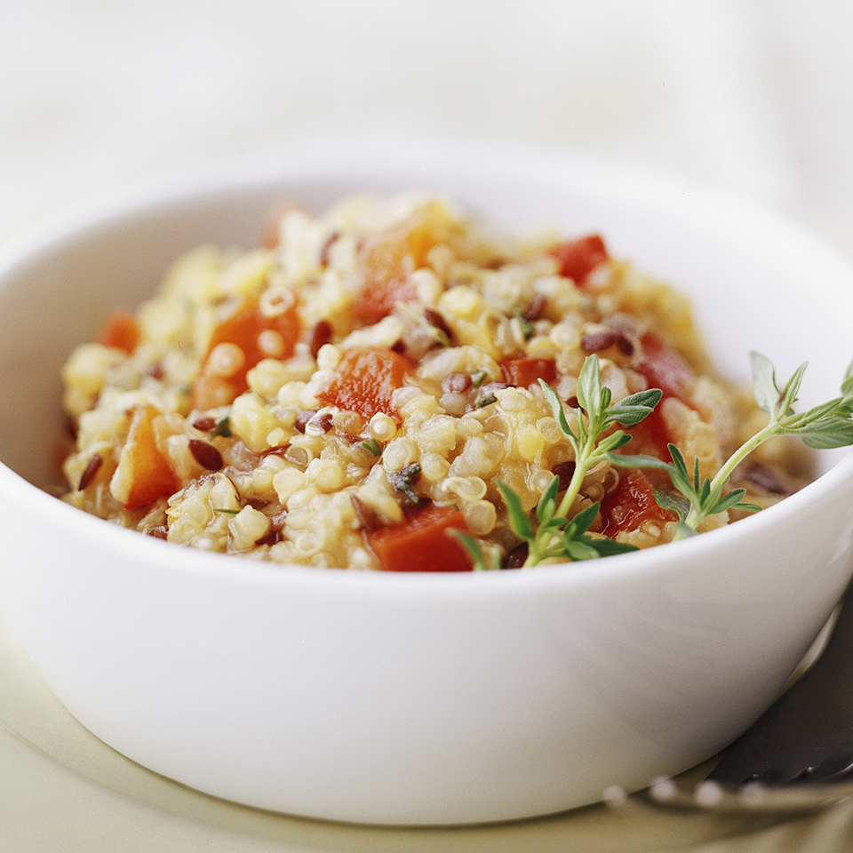 Red Lentil, Quinoa, and Flaxseed Pilaf Diabetic Living Magazine