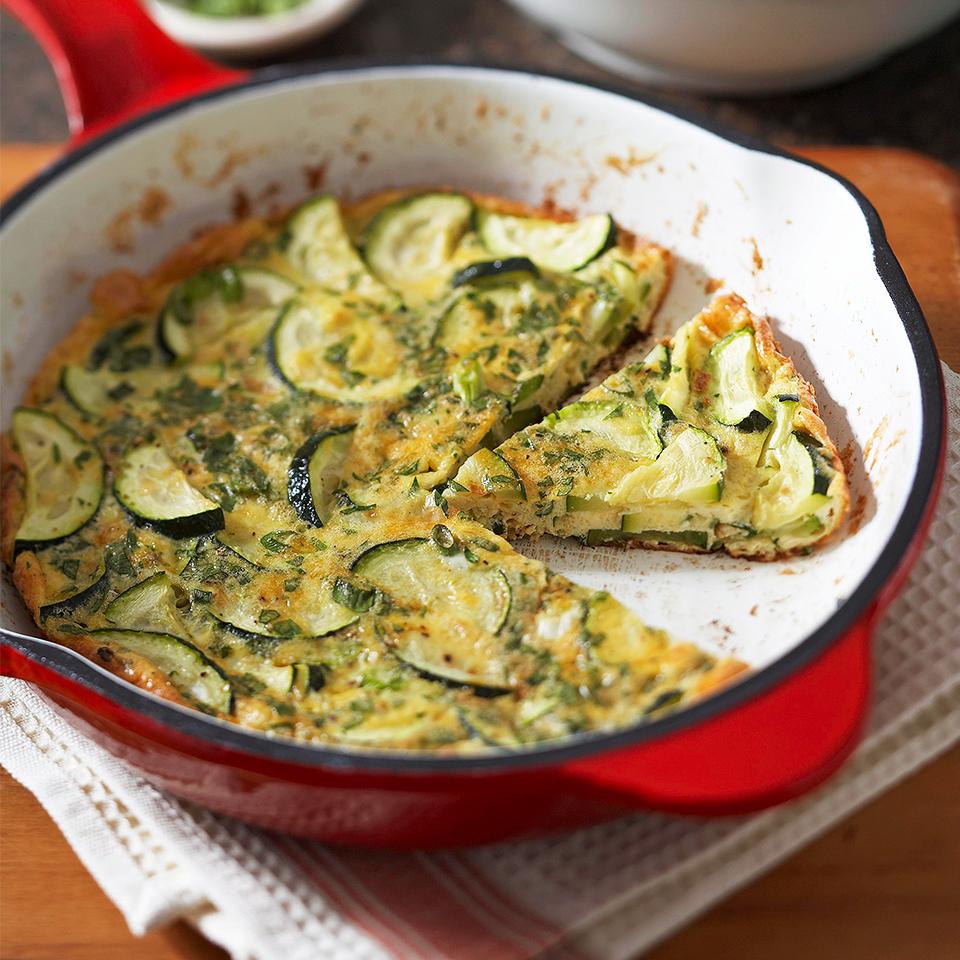 Cheddar and Zucchini Frittata Diabetic Living Magazine