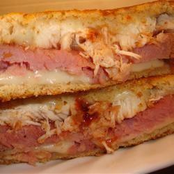 Chicken Cordon Bleu-ish Grilled Sandwich amandak23k