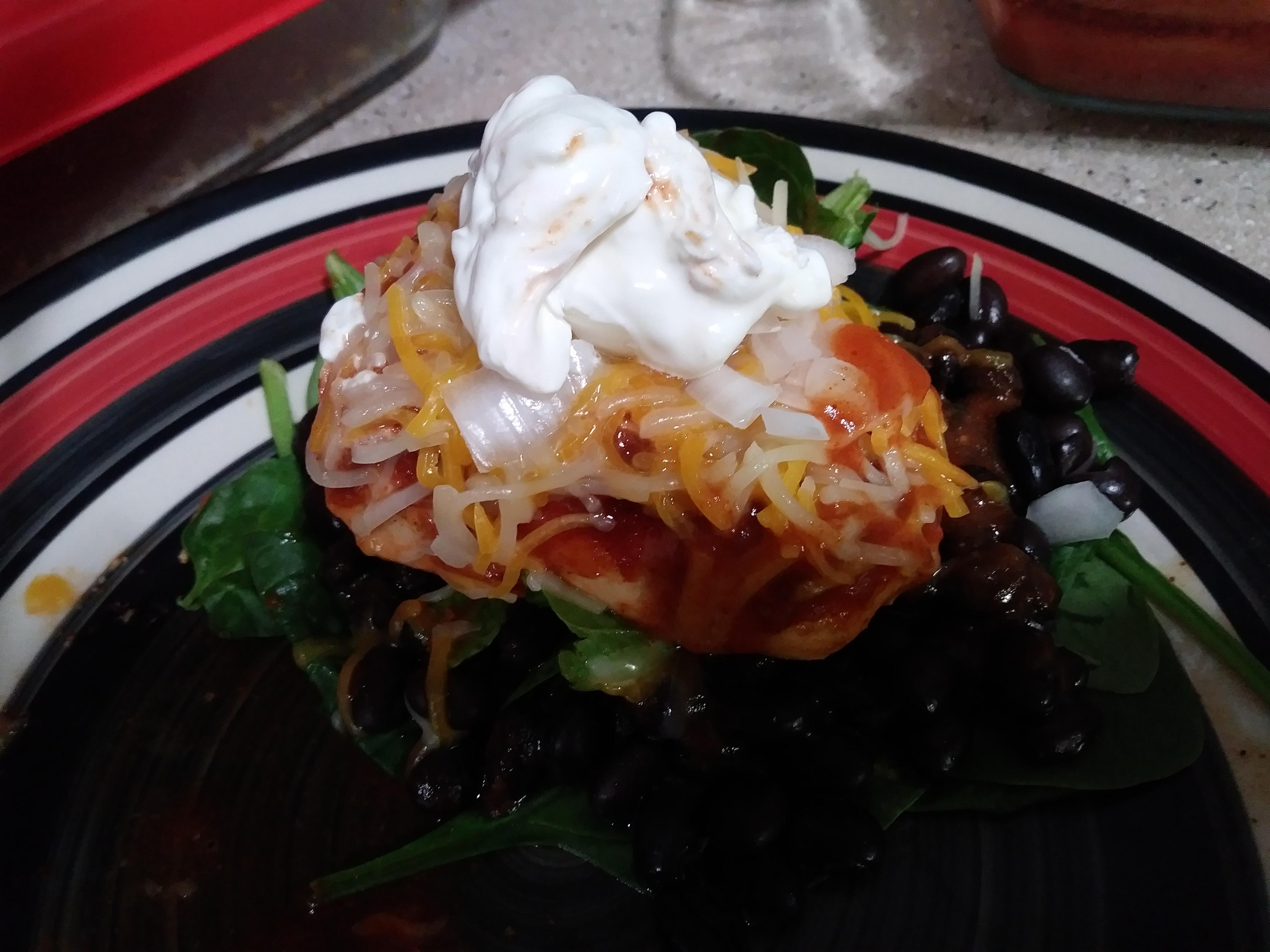 Mexican Chicken and Black Bean Salad Krissyk