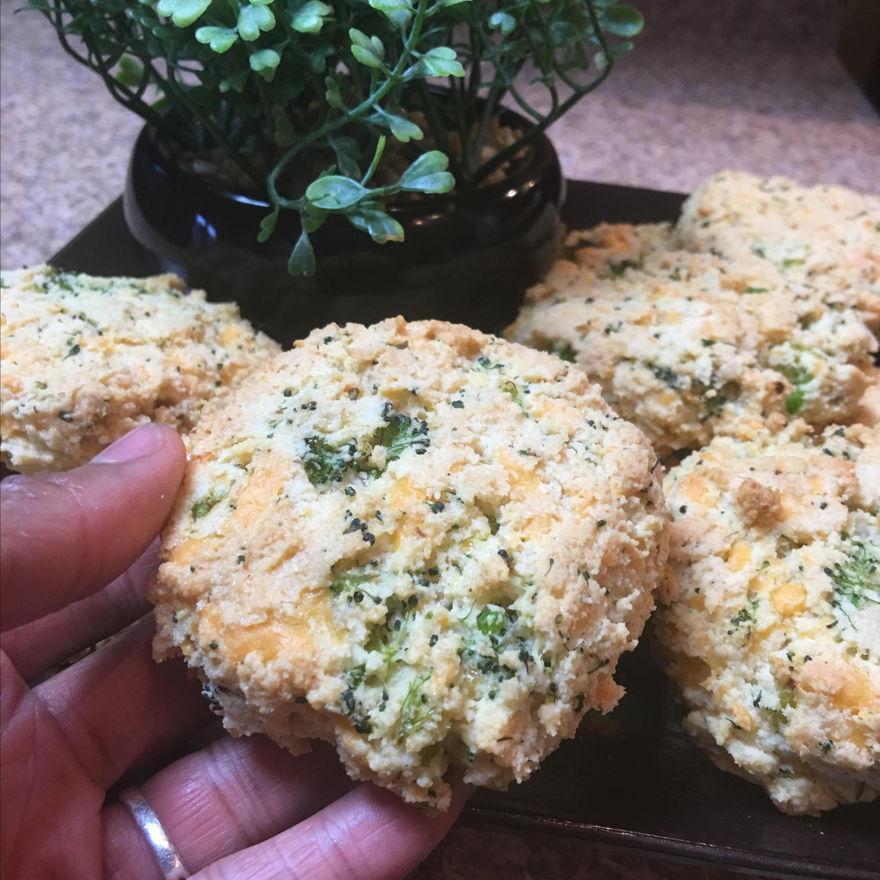 Keto Broccoli Cheddar Biscuits