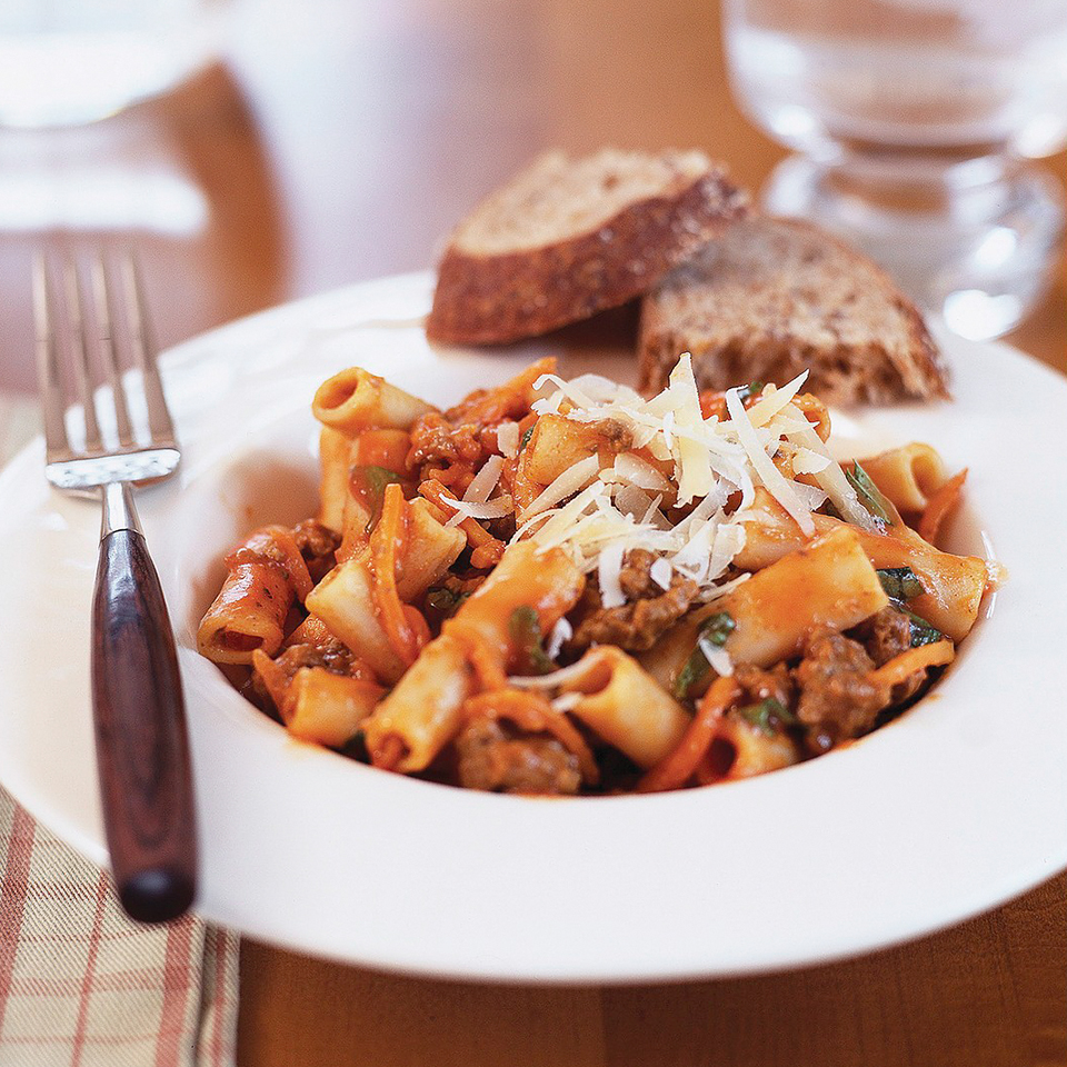 Ziti with Meat Sauce Diabetic Living Magazine