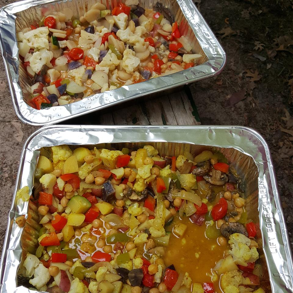 Campfire Curried Vegetable Packs