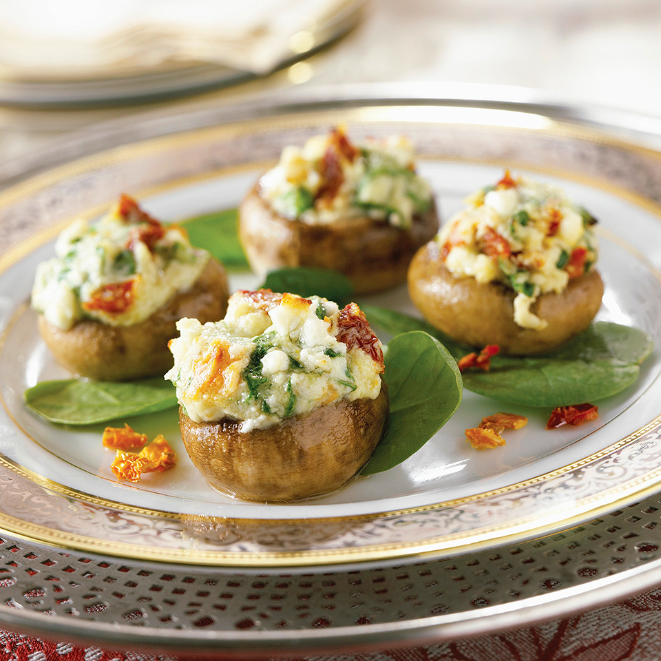 Four-Cheese Stuffed Mushrooms Diabetic Living Magazine
