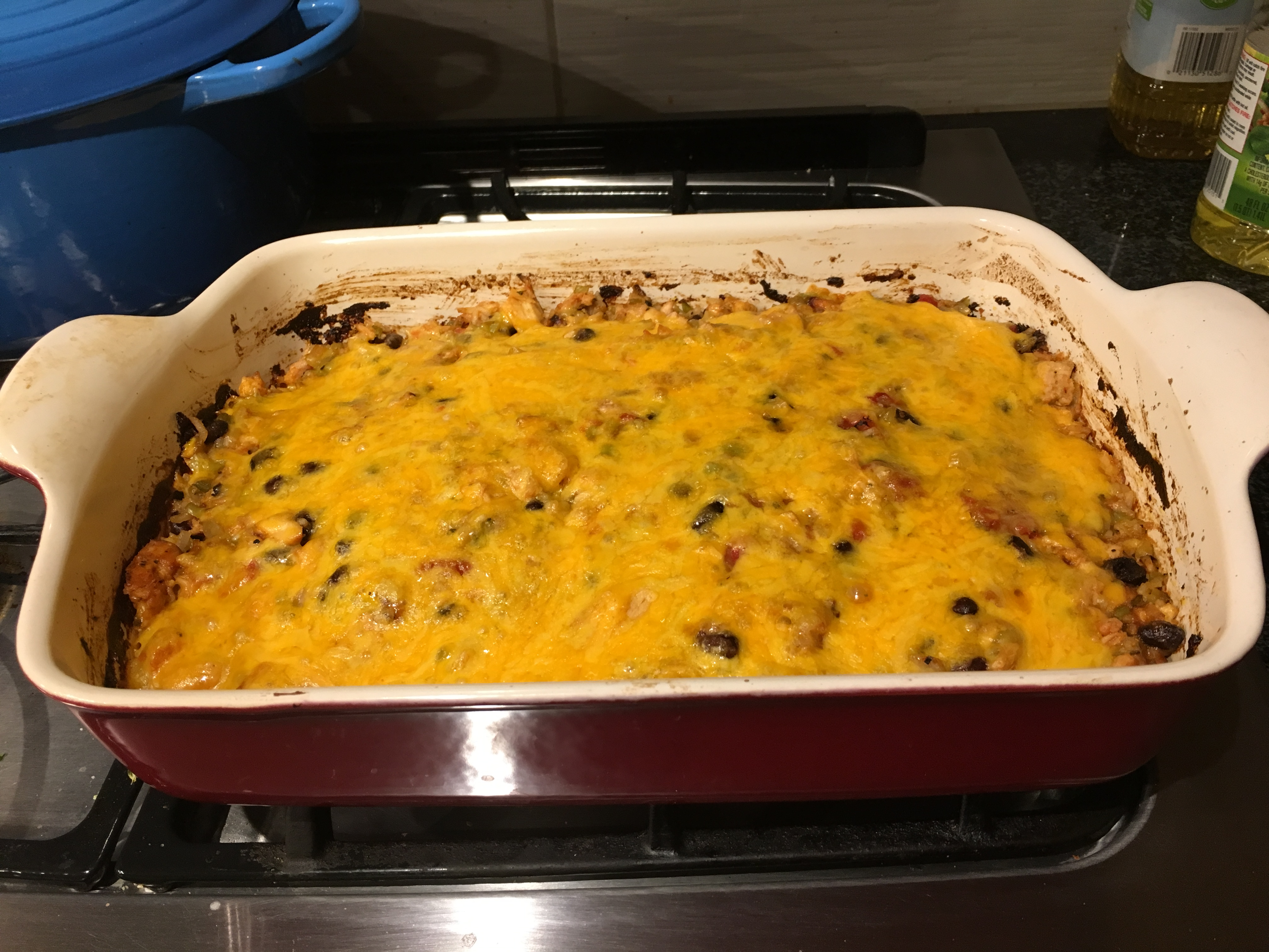 Mexican Beef and Rice Casserole image