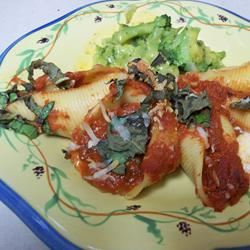 Tofu and Cheese Stuffed Shells