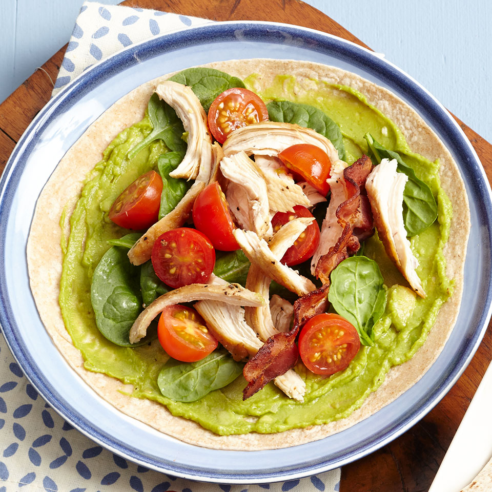 Who doesn't love a BLT? In this Mexican-inspired version, we've added chicken and avocado and wrapped it in a tortilla, making it easy to eat.