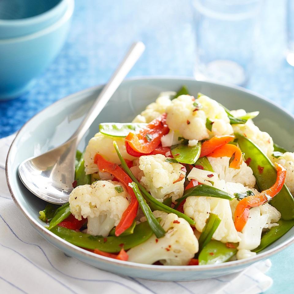 Ginger-Basil Steamed Vegetables Diabetic Living Magazine