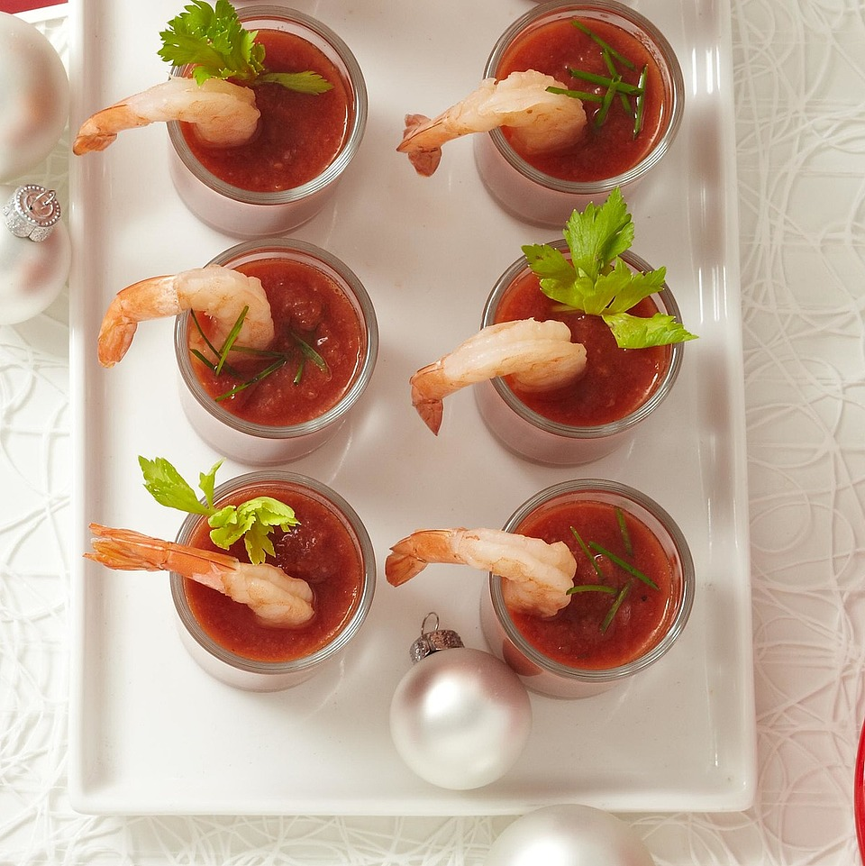 Shrimp and Tomato Shooters Diabetic Living Magazine
