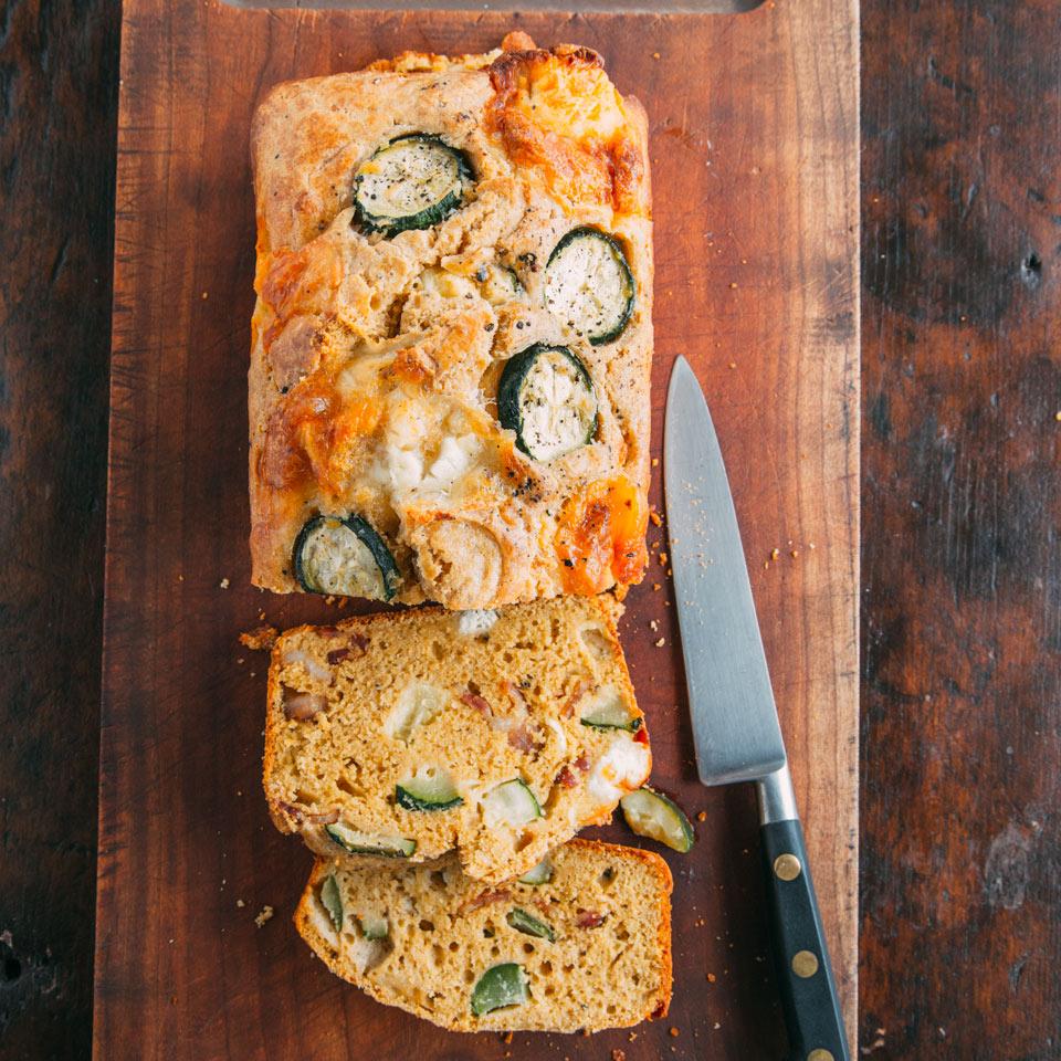 Goat Cheese Zucchini Bread with Bacon Emily Monaco