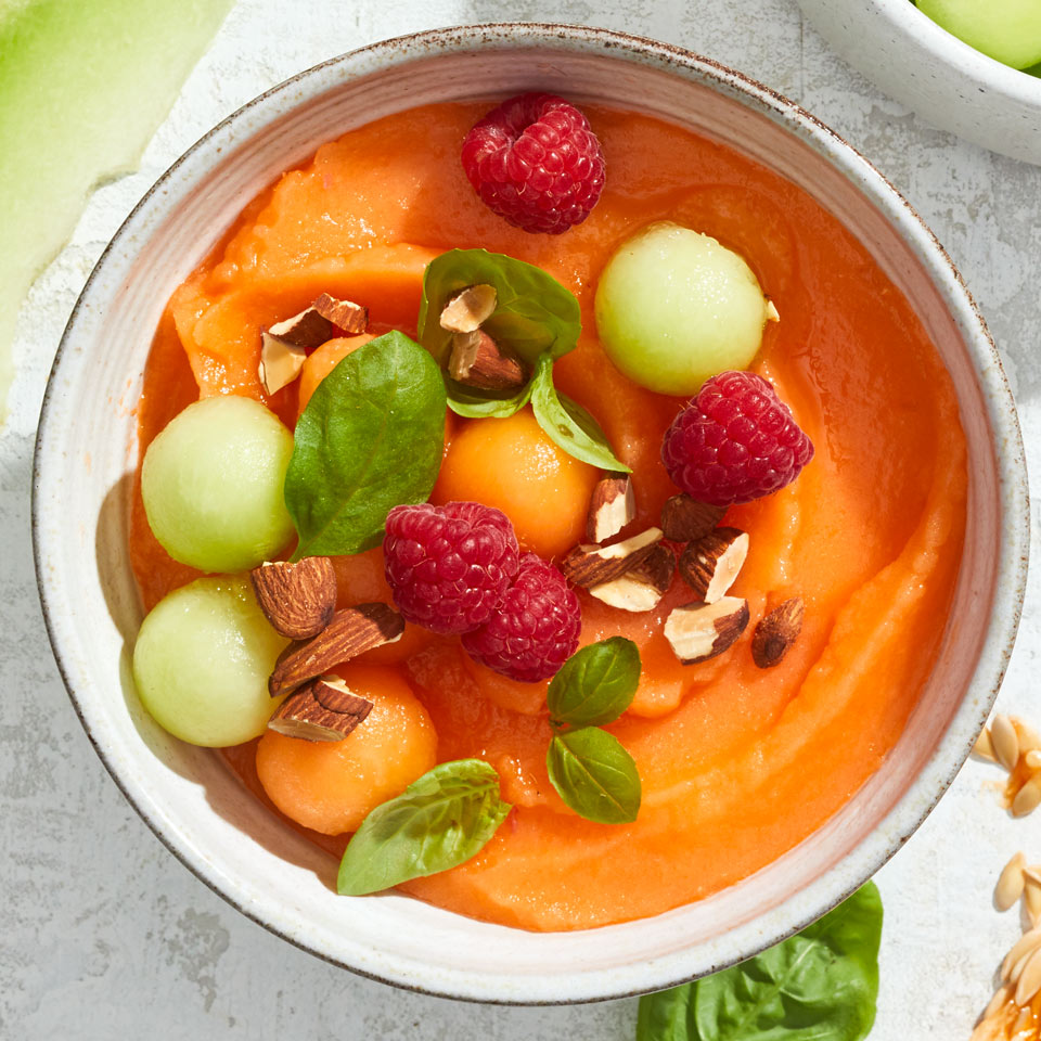 Cantaloupe Smoothie Bowl Recipe Eatingwell When i brought this to the table munchkin's eyes lit up like a kid on christmas morning. cantaloupe smoothie bowl