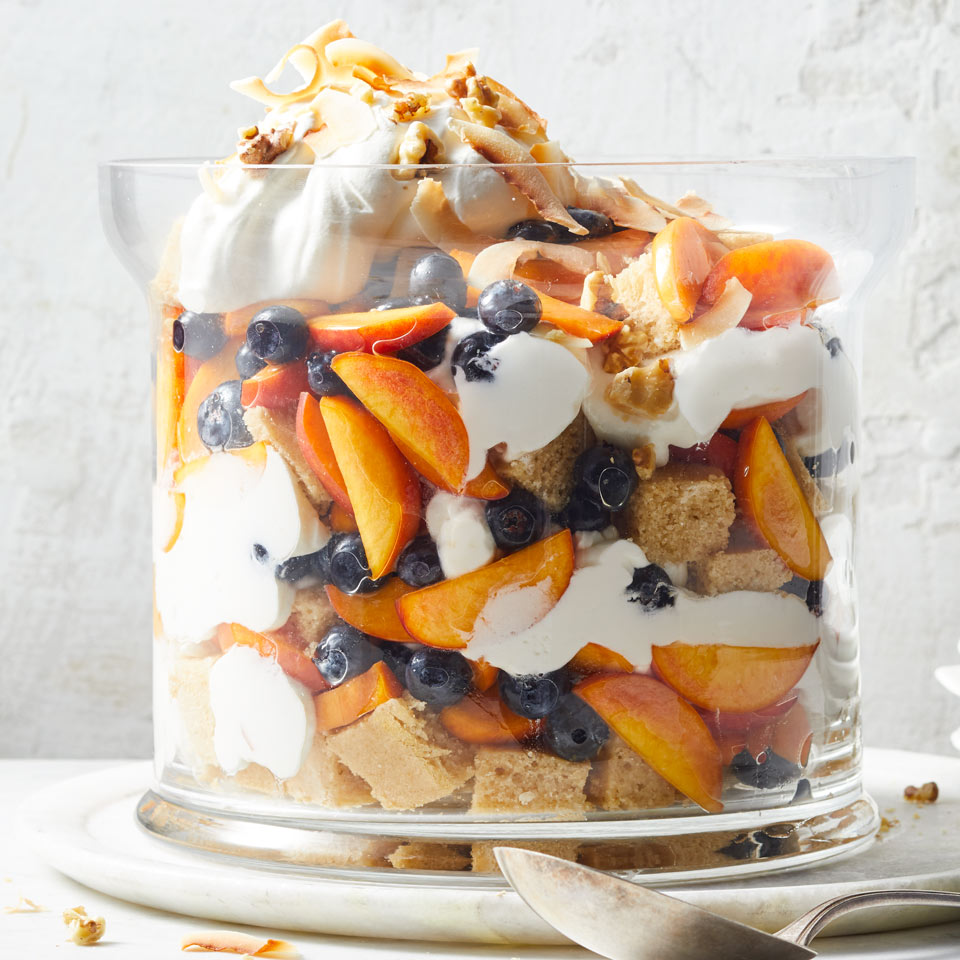 Peach-Blueberry-Coconut Trifle Carolyn Malcoun