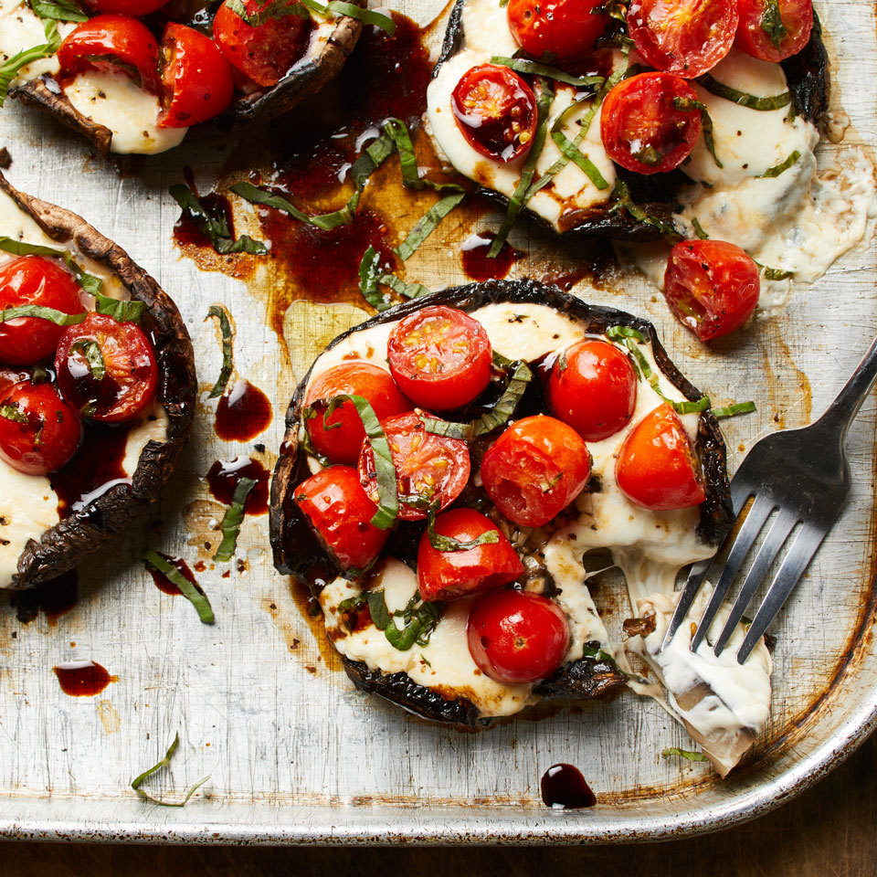 Caprese Stuffed Portobello Mushrooms Recipe Eatingwell